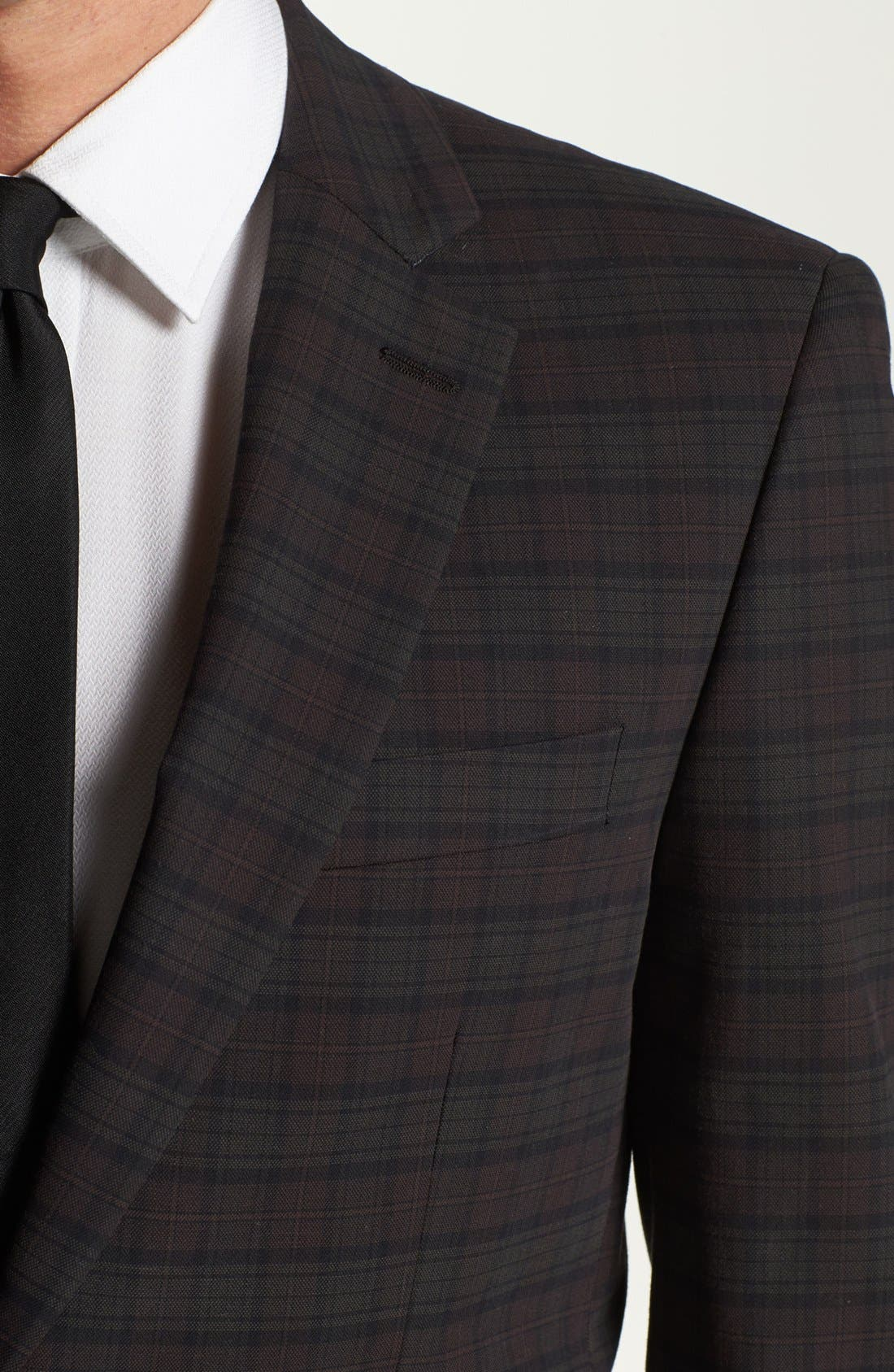Alternate Image 2  - John Varvatos Star USA Plaid Trim Fit Sportcoat