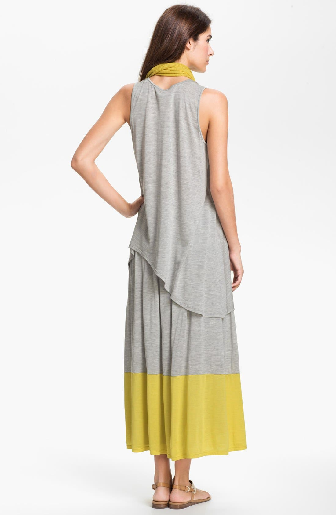 Alternate Image 5  - Eileen Fisher Pleated Colorblock Midi Skirt (Plus Size)