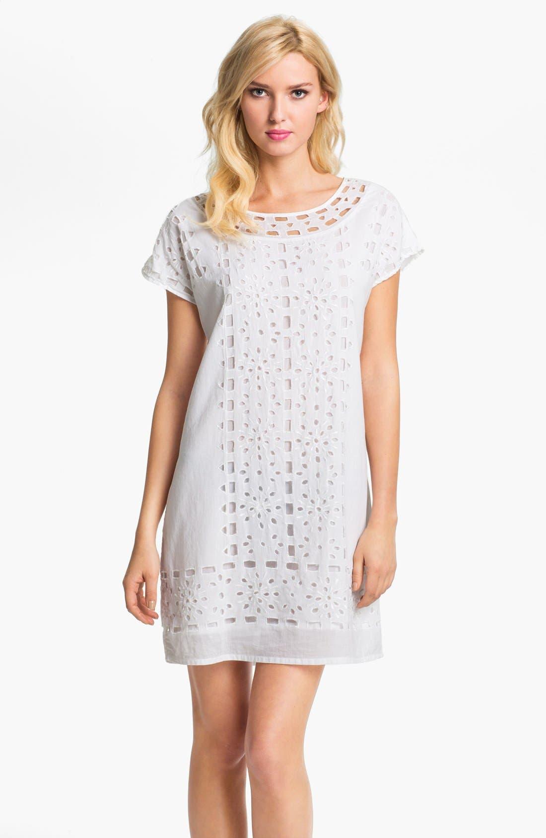Main Image - MICHAEL Michael Kors Eyelet Shift Dress (Petite)
