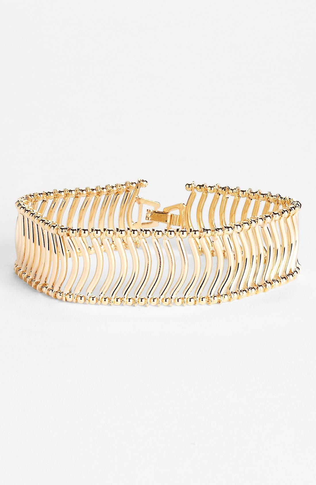 Alternate Image 1 Selected - Natasha Couture 'Ball Chain Wave' Bracelet