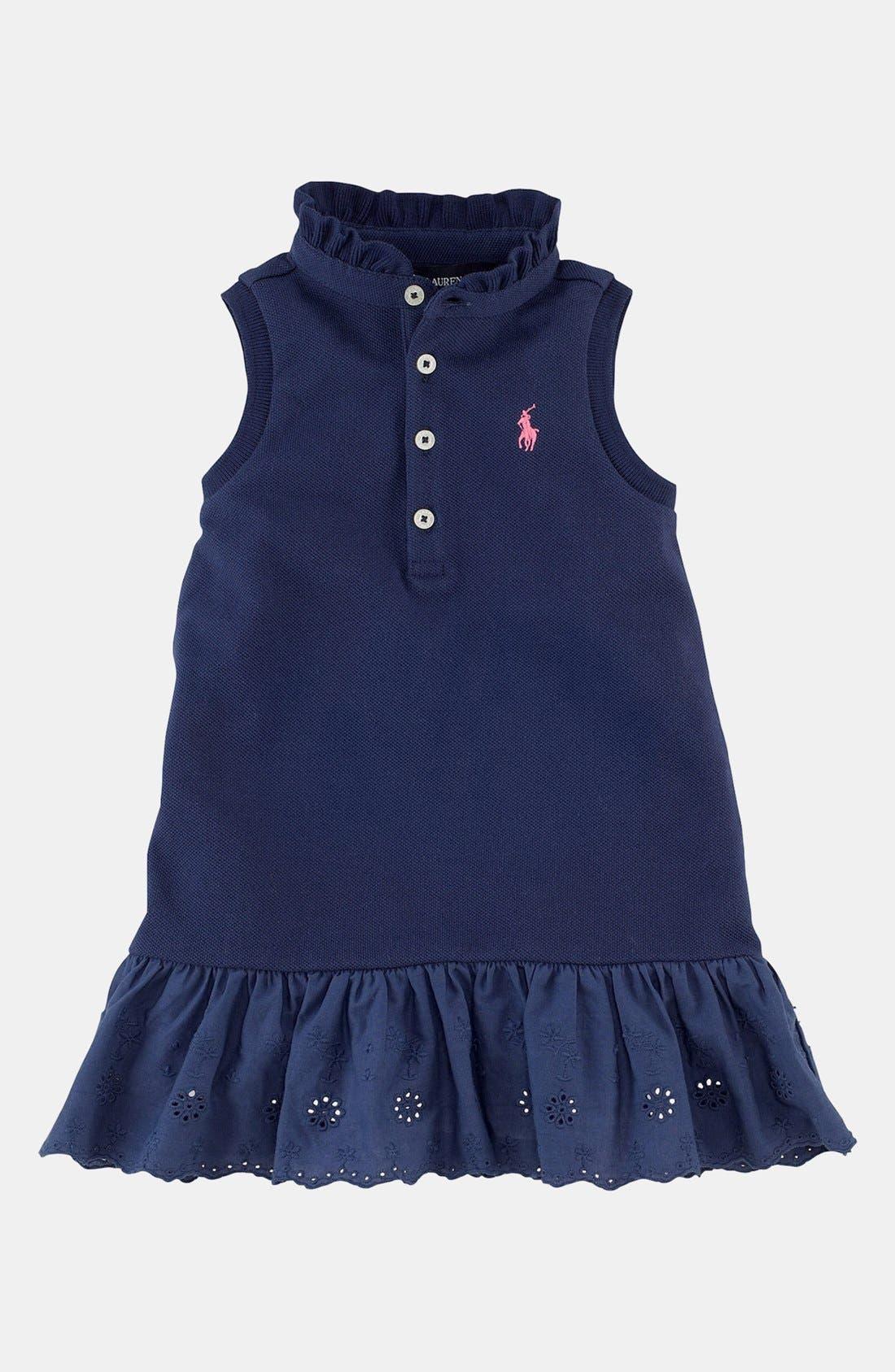 Alternate Image 1 Selected - Ralph Lauren Polo Dress (Baby Girls)