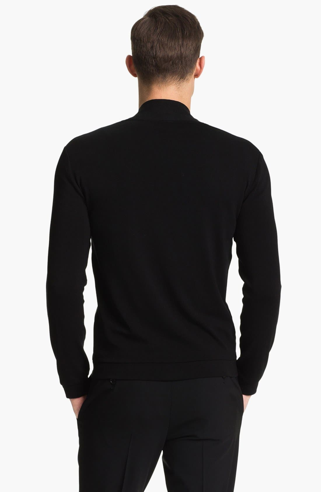 Alternate Image 2  - Armani Collezioni Jersey Knit Cardigan