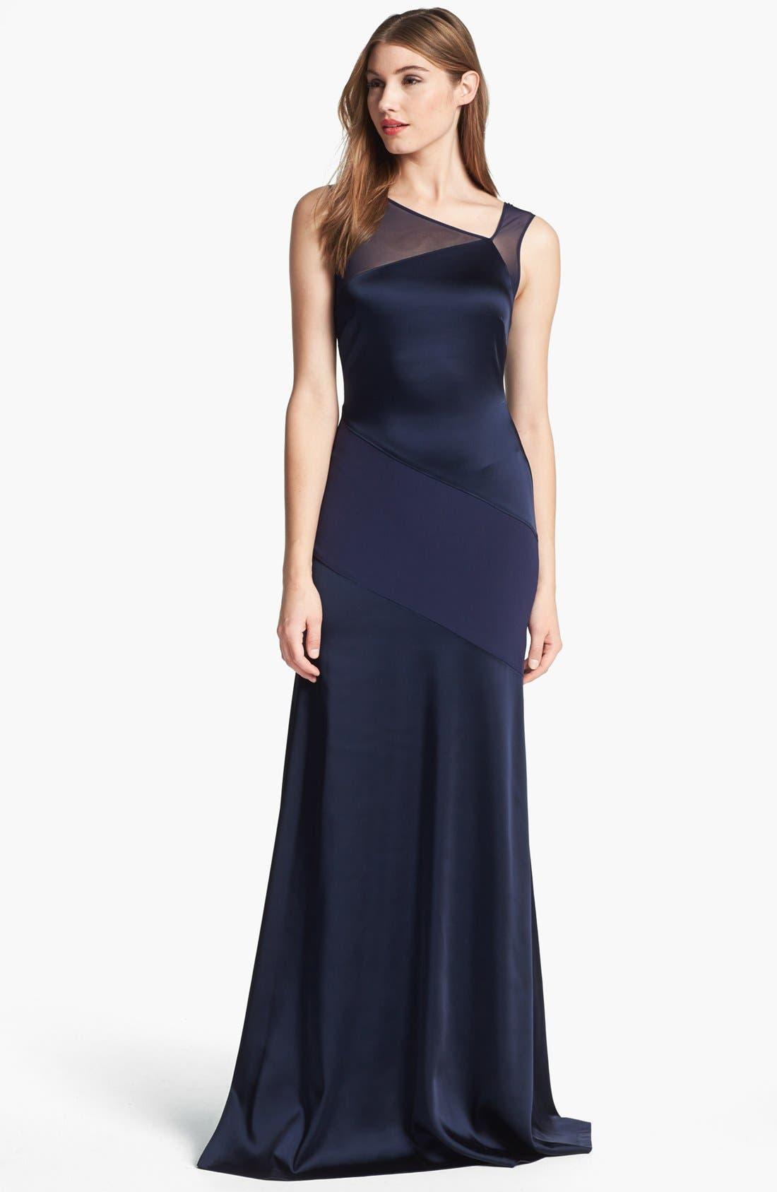 Main Image - Halston Heritage Sleeveless Asymmetric Gown