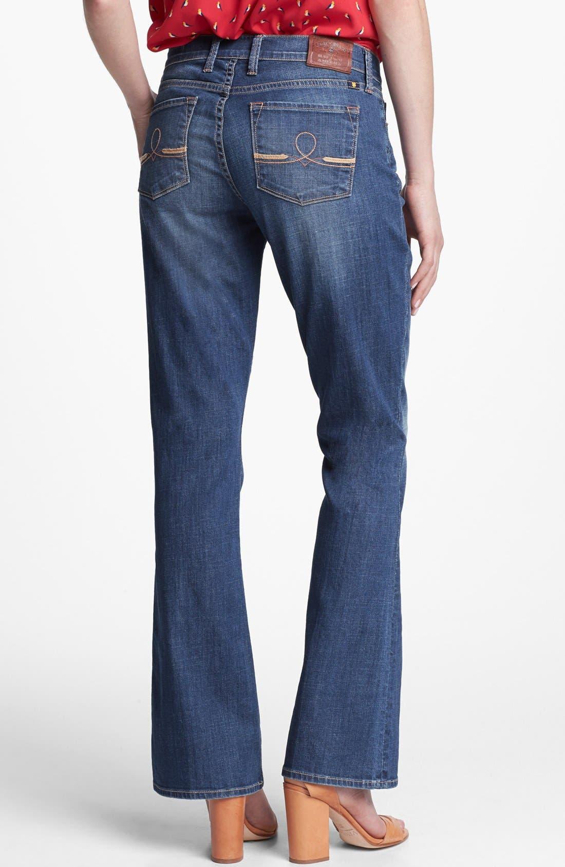 Alternate Image 2  - Lucky Brand 'Sofia' Bootcut Jeans (Medium Olive)