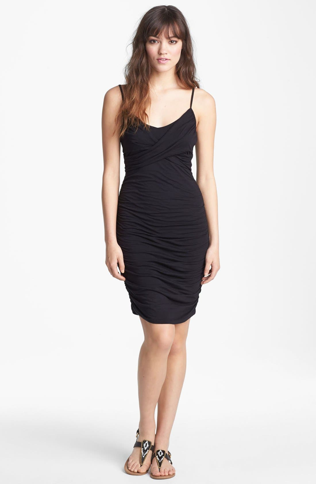 Main Image - Velvet by Graham & Spencer Ruched Tank Dress