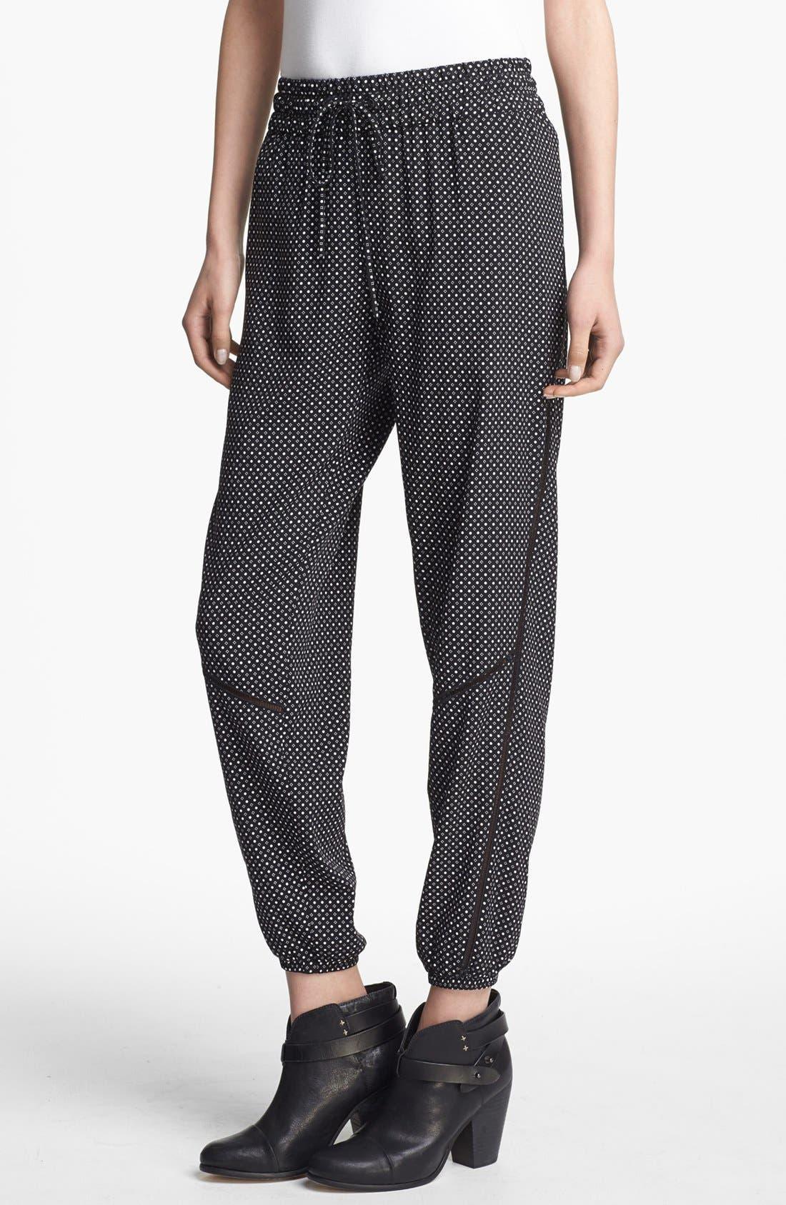 Alternate Image 1 Selected - rag & bone 'Gina' Silk Track Pants