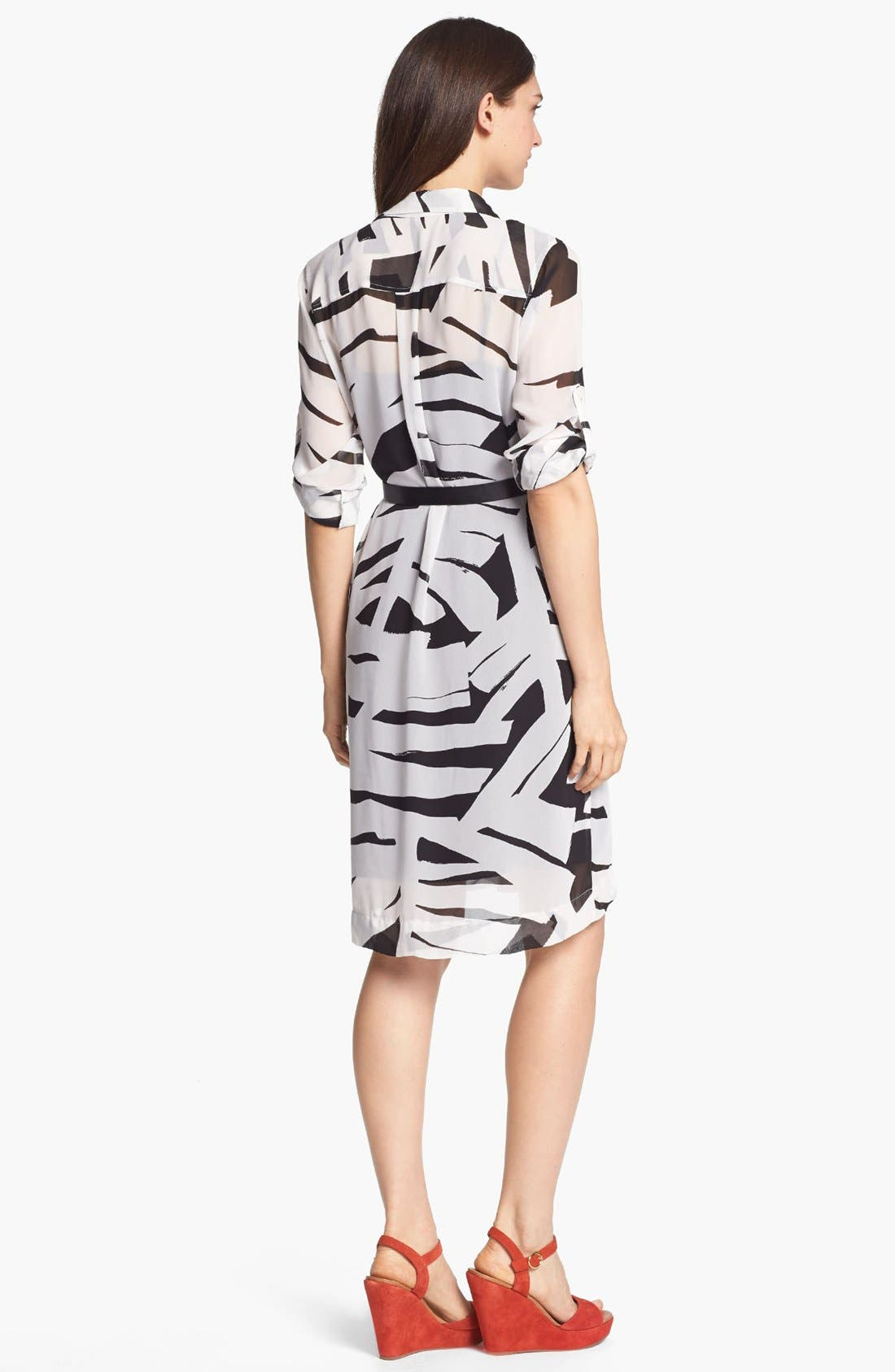 Alternate Image 2  - DKNYC Belted Shirtdress