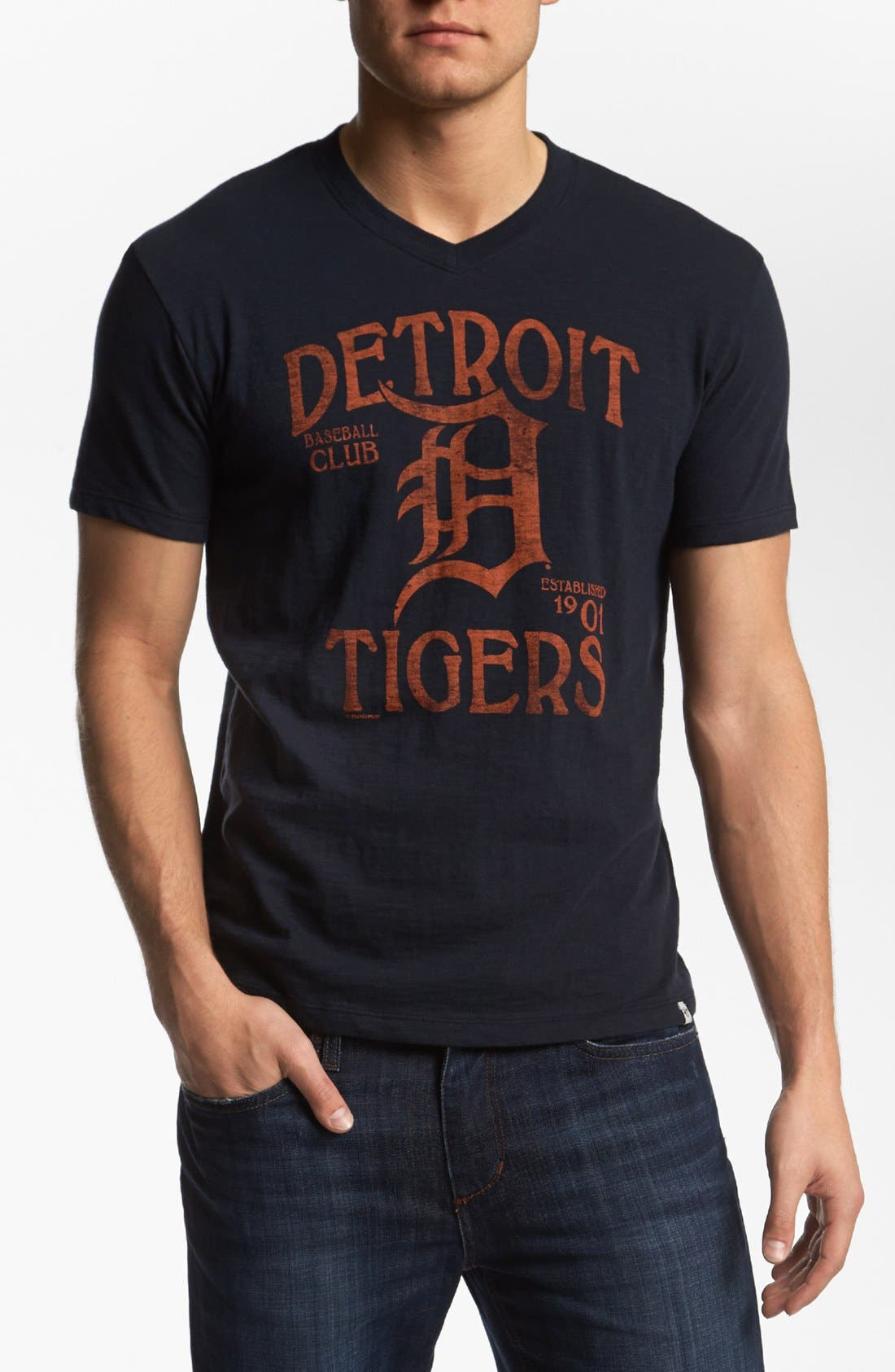 Alternate Image 1 Selected - 47 Brand 'Detroit Tigers - Scrum' T-Shirt