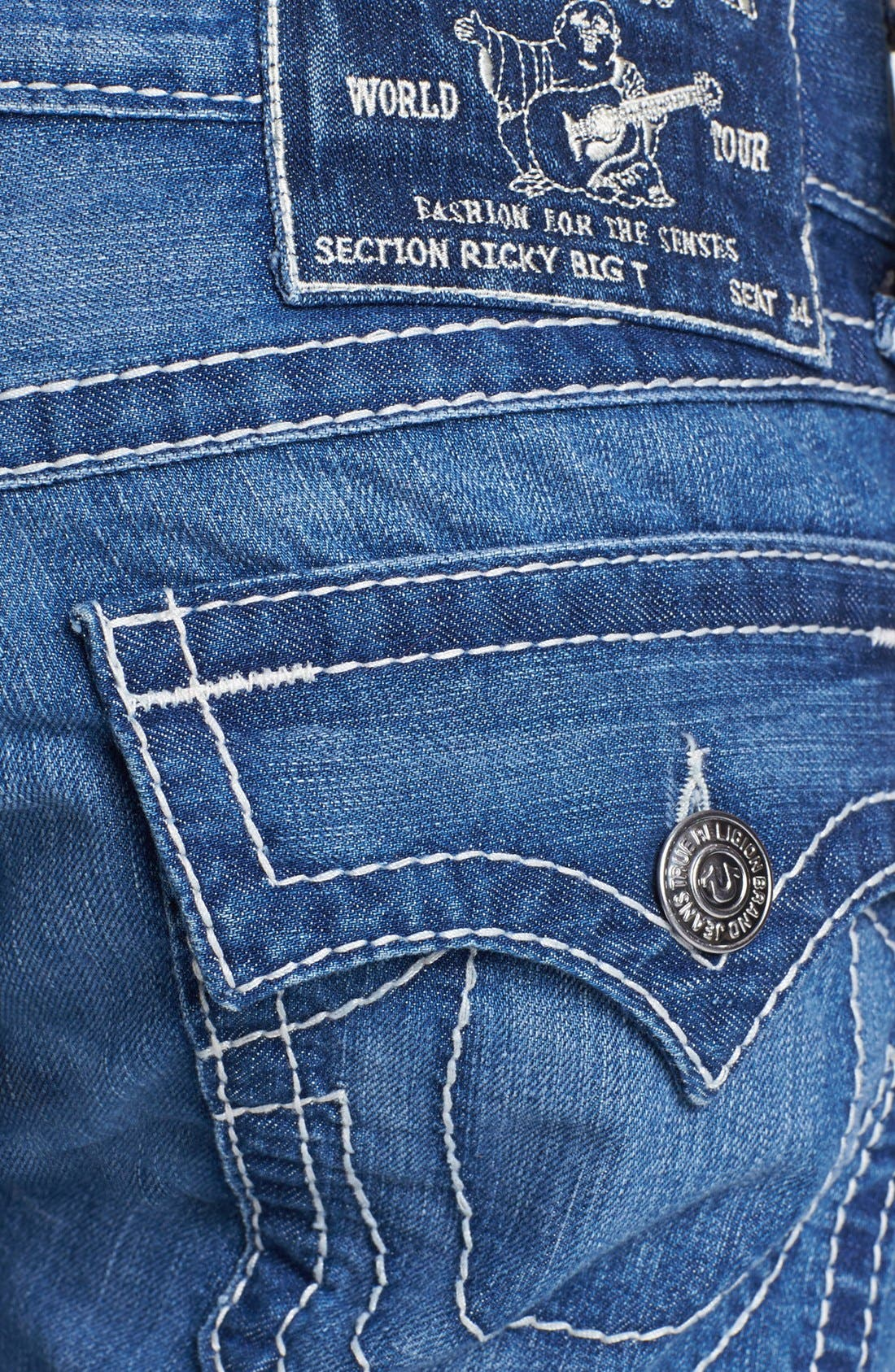 Alternate Image 4  - True Religion Brand Jeans 'Ricky' Straight Leg Jeans (Voyager)