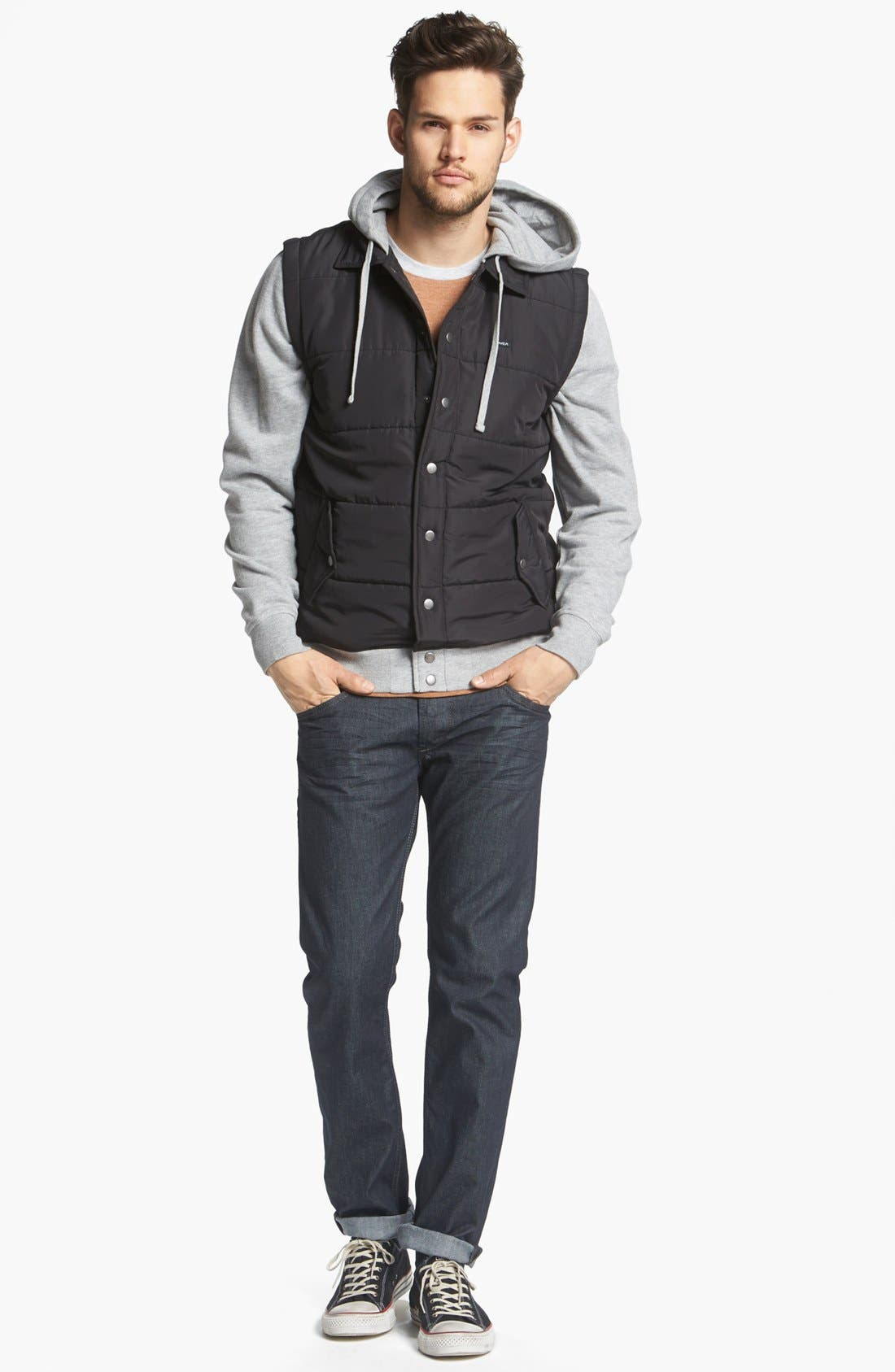 Alternate Image 4  - RVCA Puffer Hooded Jacket