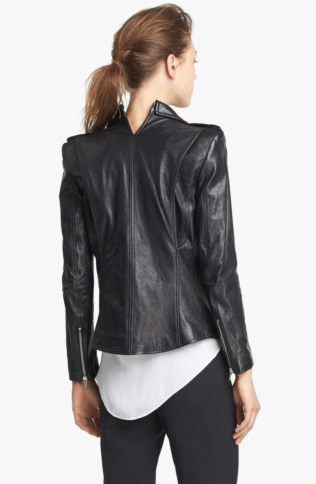 Alternate Image 3  - Theyskens' Theory 'Jiker Nomi' Leather Jacket