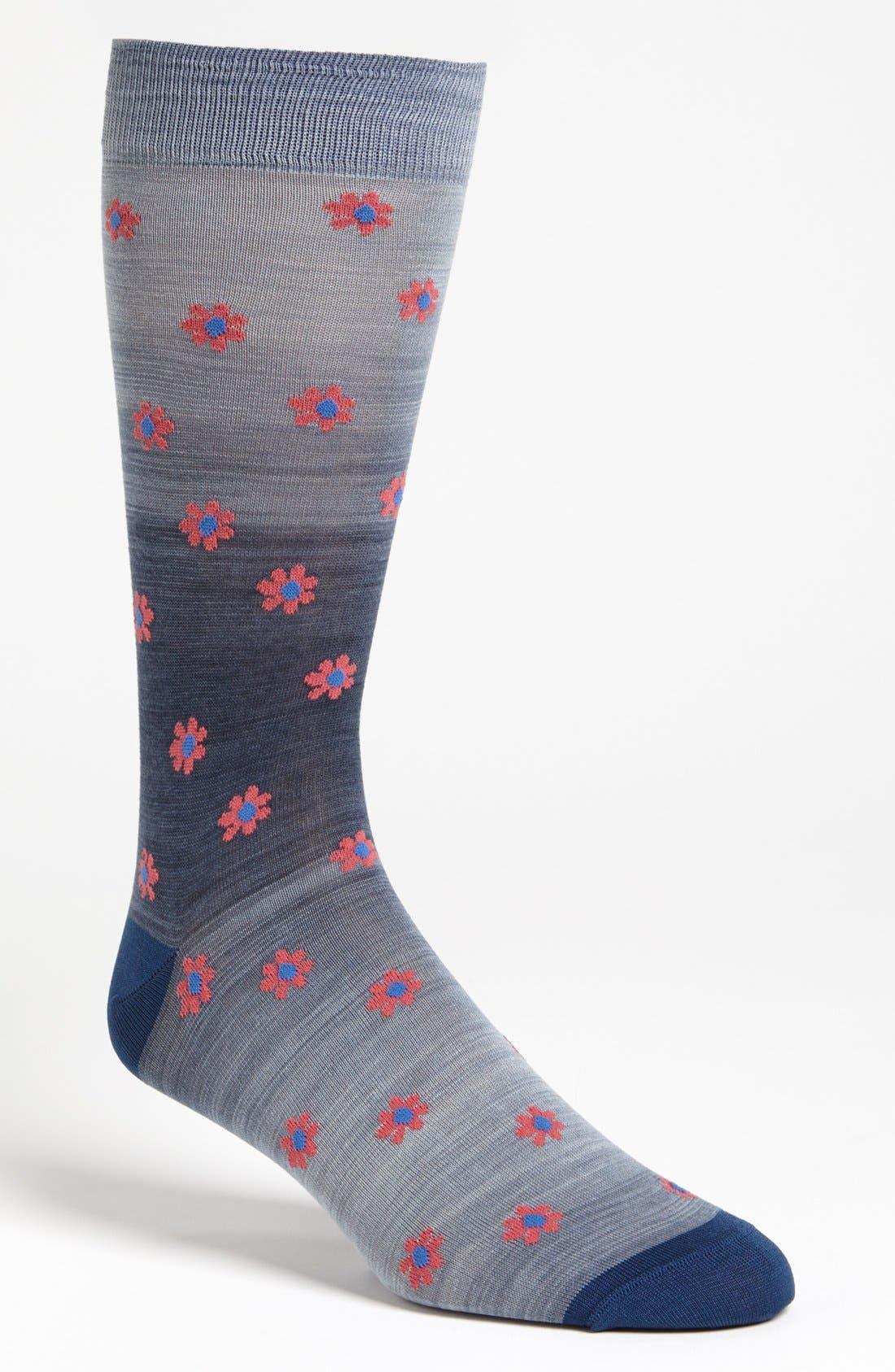 Alternate Image 1 Selected - Marcoliani 'Delave' Floral Socks
