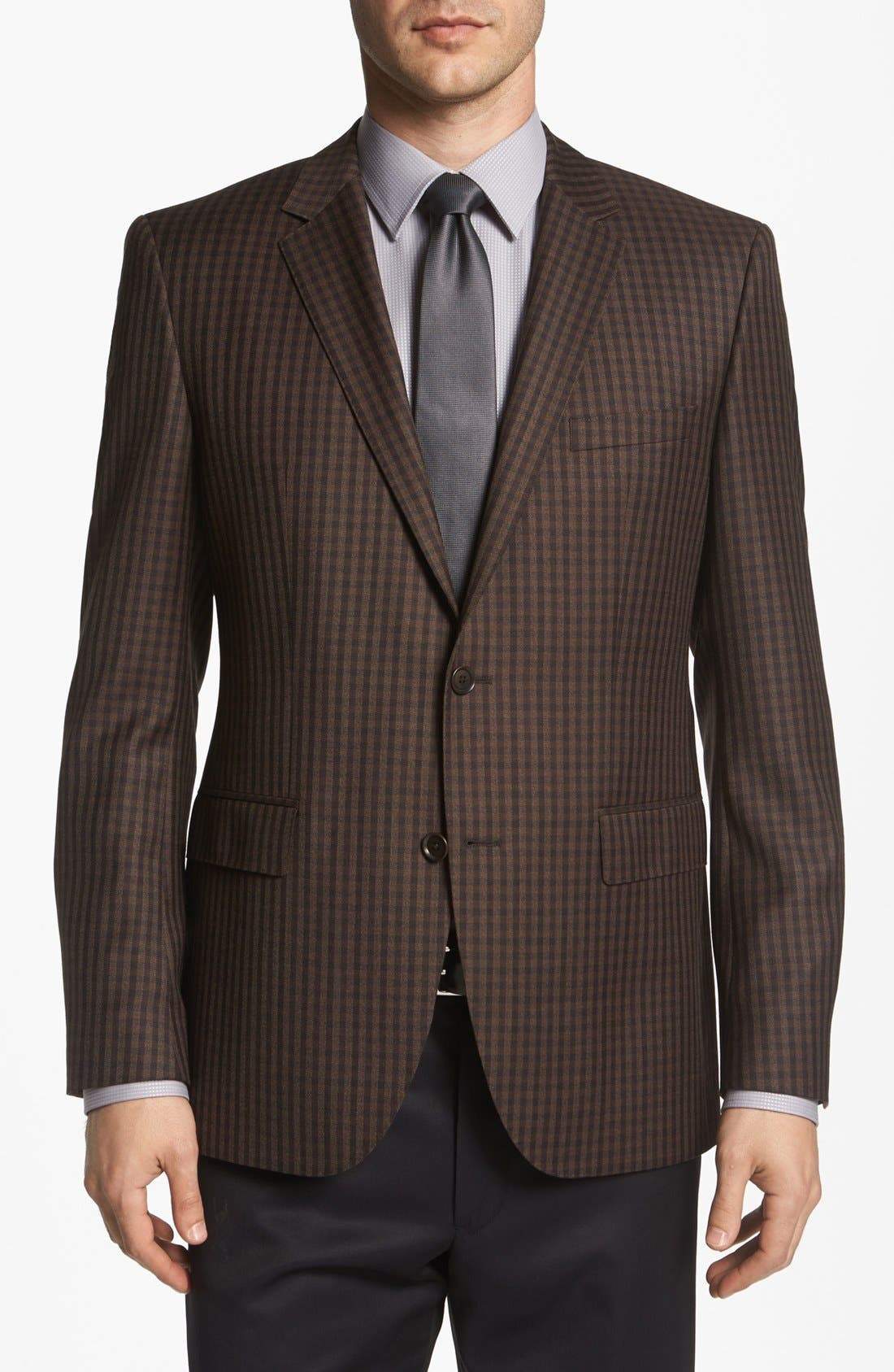 Alternate Image 1 Selected - BOSS HUGO BOSS 'The Smith' Trim Fit Check Sportcoat
