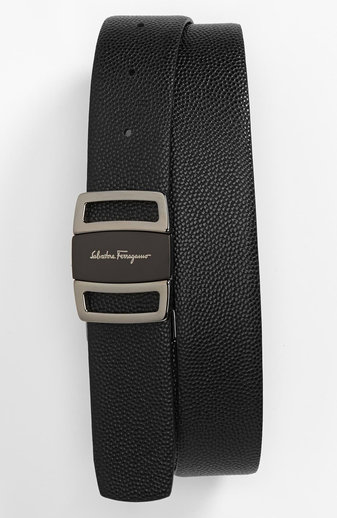 Alternate Image 1 Selected - Salvatore Ferragamo Reversible Leather Belt