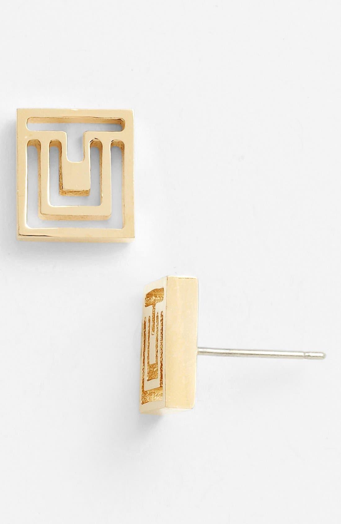 Alternate Image 1 Selected - Tory Burch 'Frete' Stud Earrings
