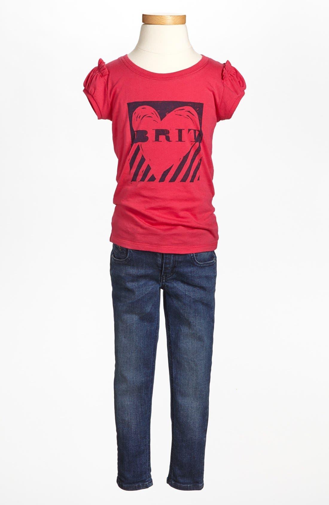 Alternate Image 2  - Burberry Tee & Pants (Little Girls & Big Girls)