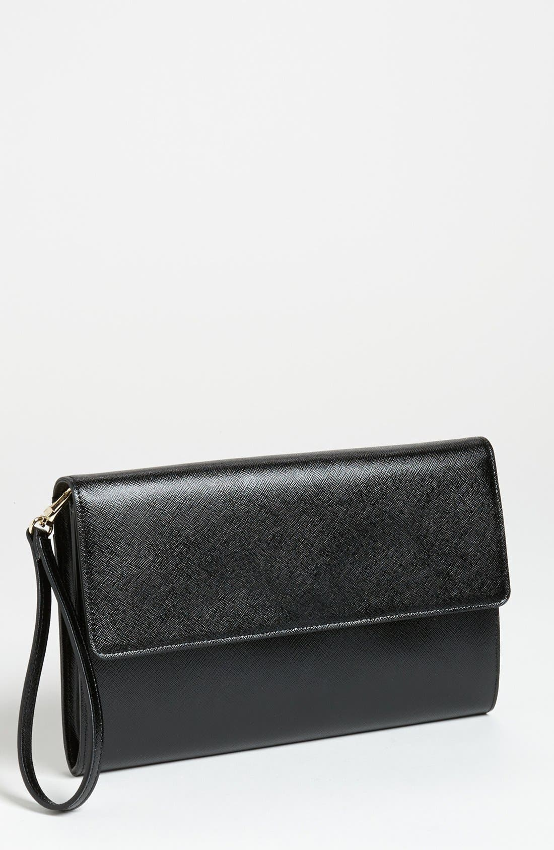 Main Image - Halogen® Saffiano Leather Clutch