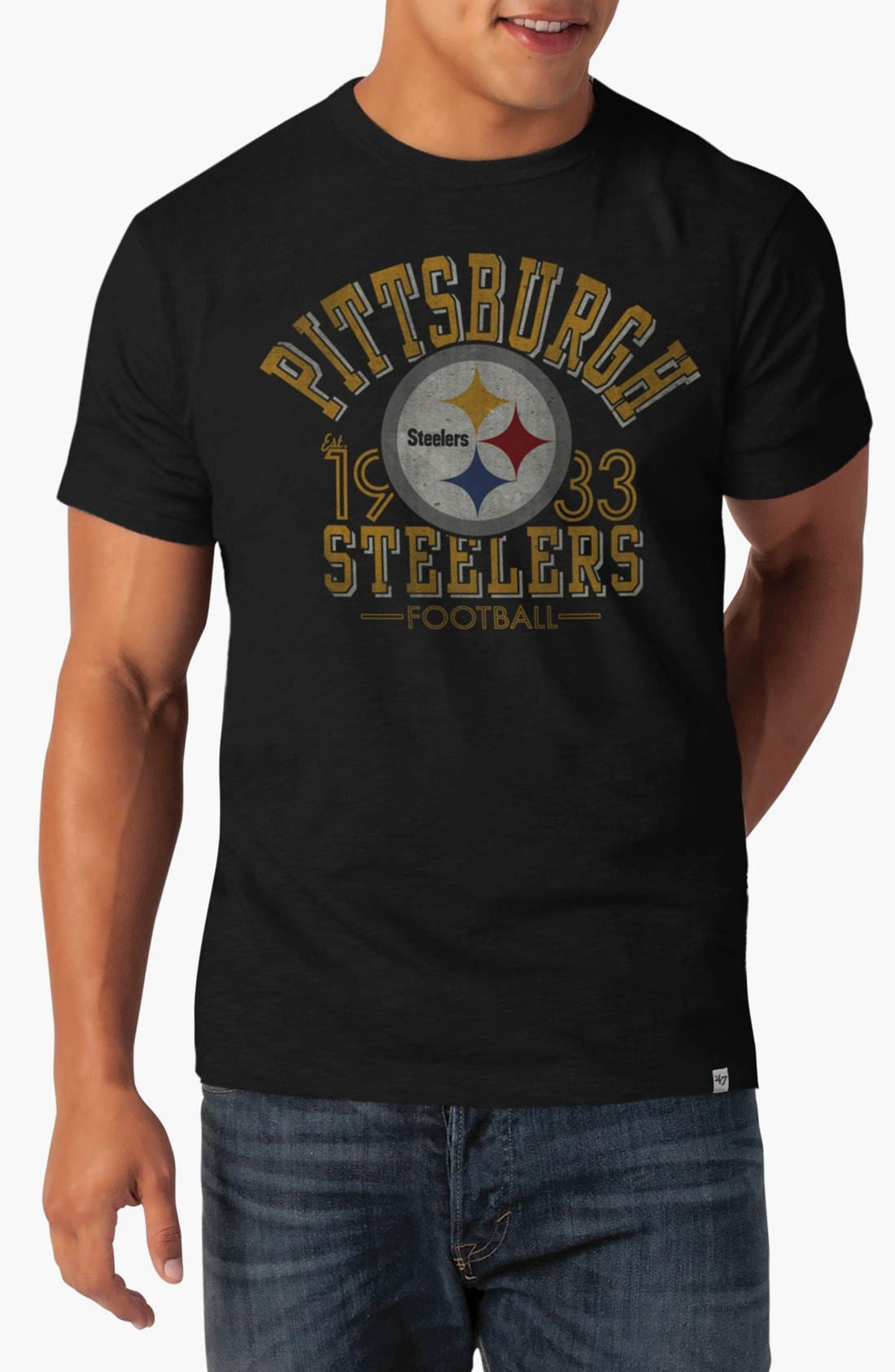 Alternate Image 1 Selected - 47 Brand 'Pittsburgh Steelers - Scrum' Graphic T-Shirt