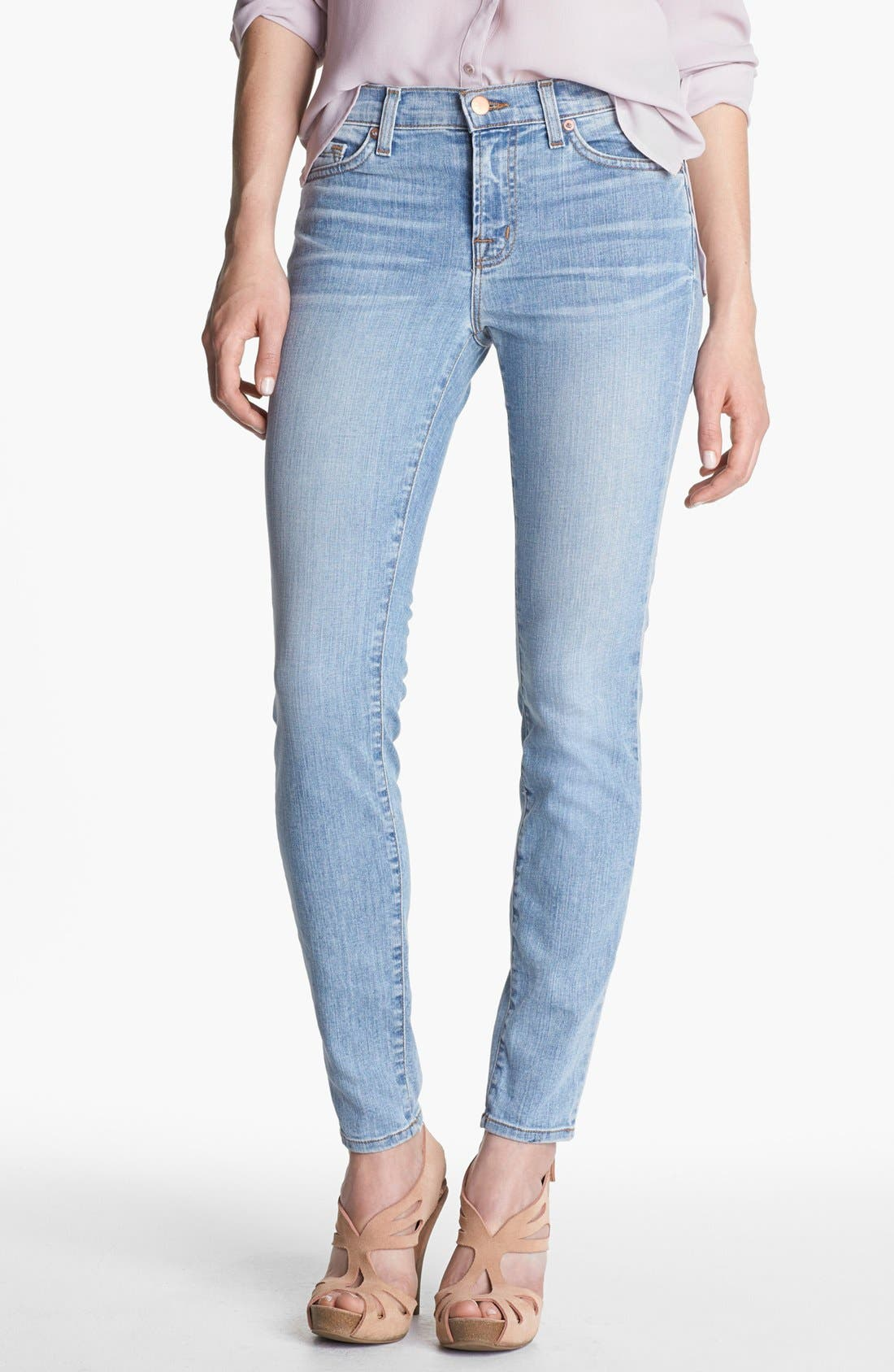 Alternate Image 1 Selected - J Brand '811' Mid-Rise Skinny Jeans (Orion)