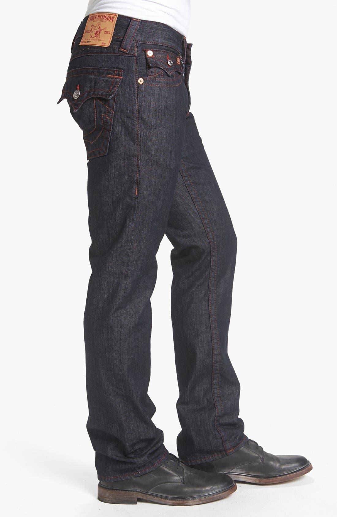 Alternate Image 3  - True Religion Brand Jeans 'Ricky' Straight Leg Jeans (Body Rinse)
