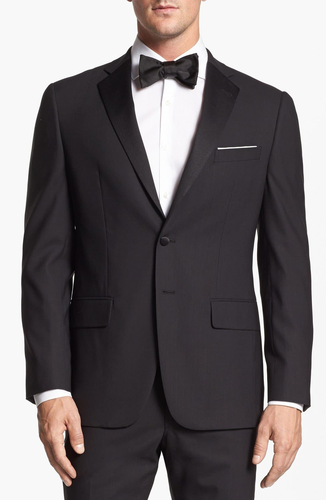 Alternate Image 4  - Joseph Abboud 'Profile Hybrid' Trim Fit Wool Tuxedo (Online Only)