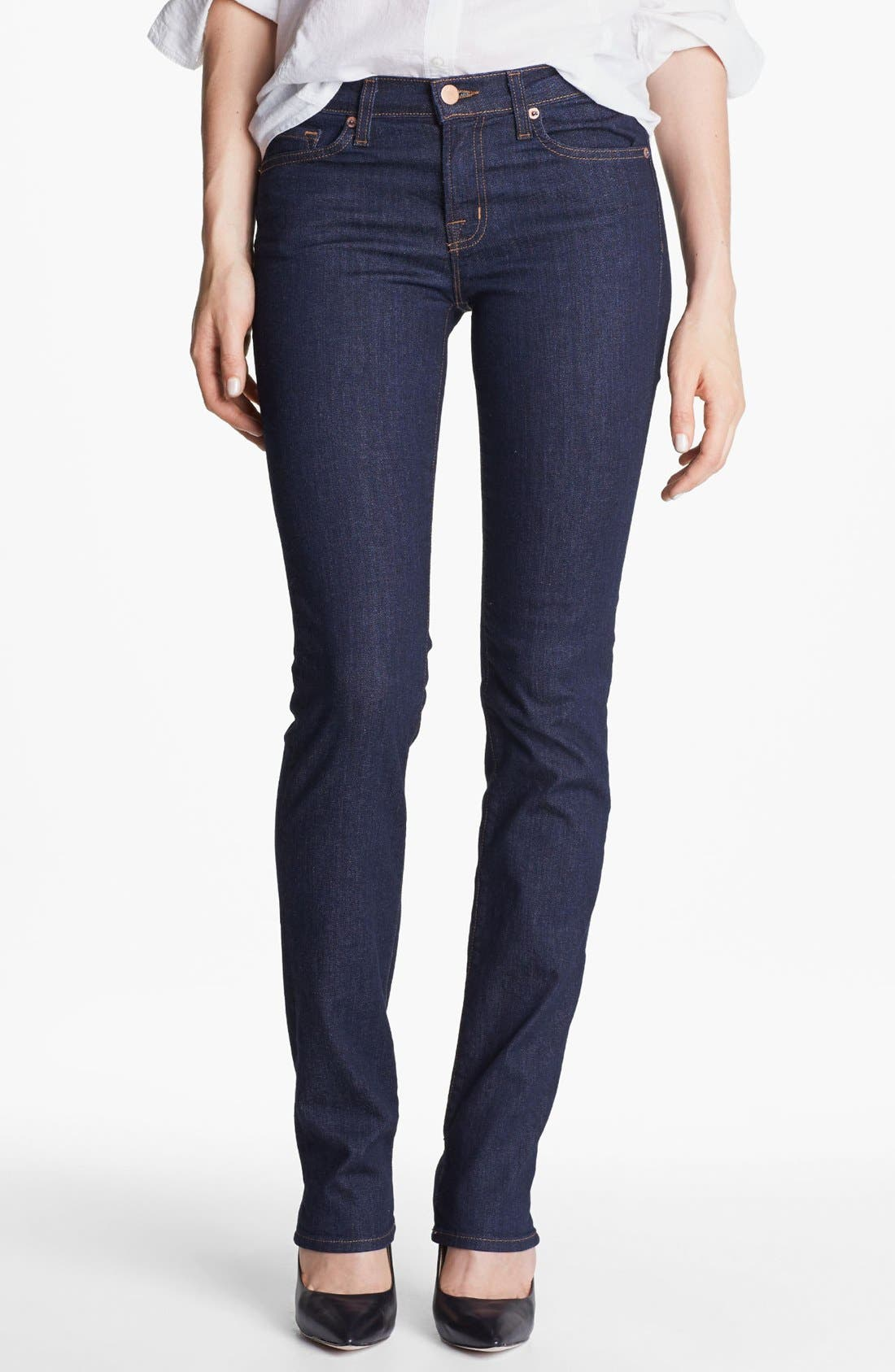 Alternate Image 1  - J Brand '814' Mid-Rise Cigarette Leg Jeans (Pure)