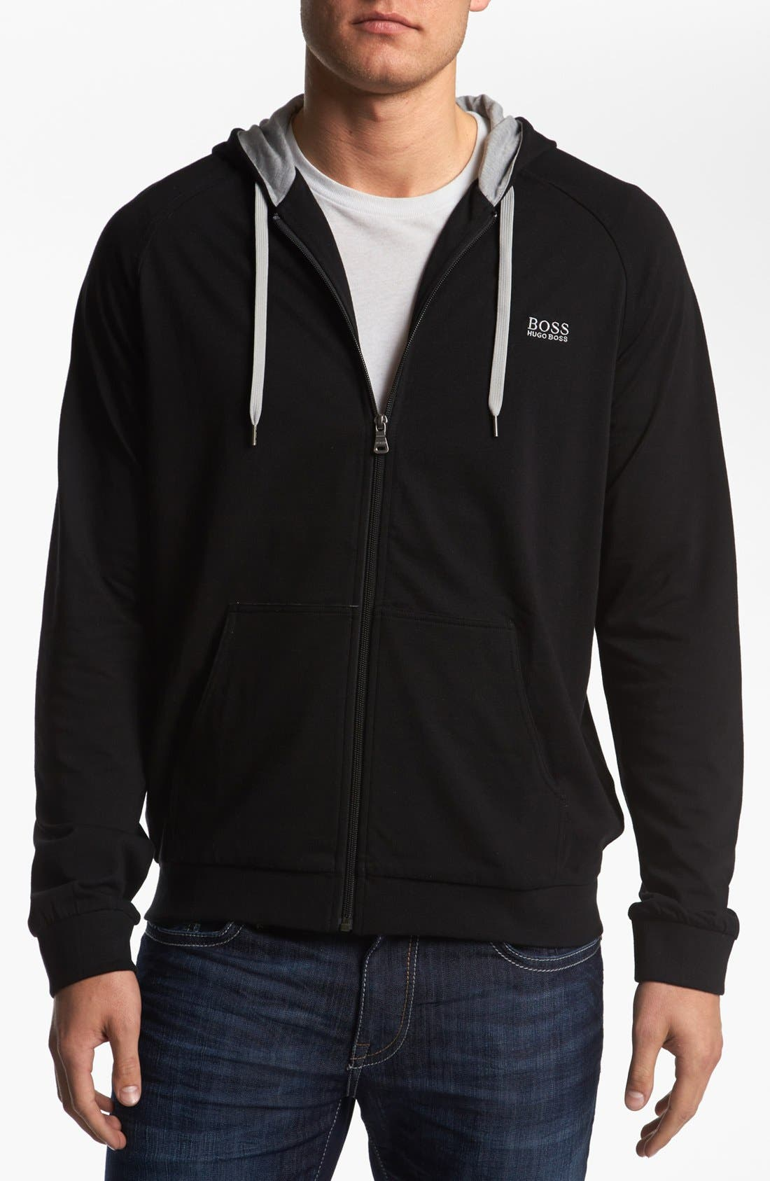 Main Image - BOSS HUGO BOSS Cotton Zip Hoodie