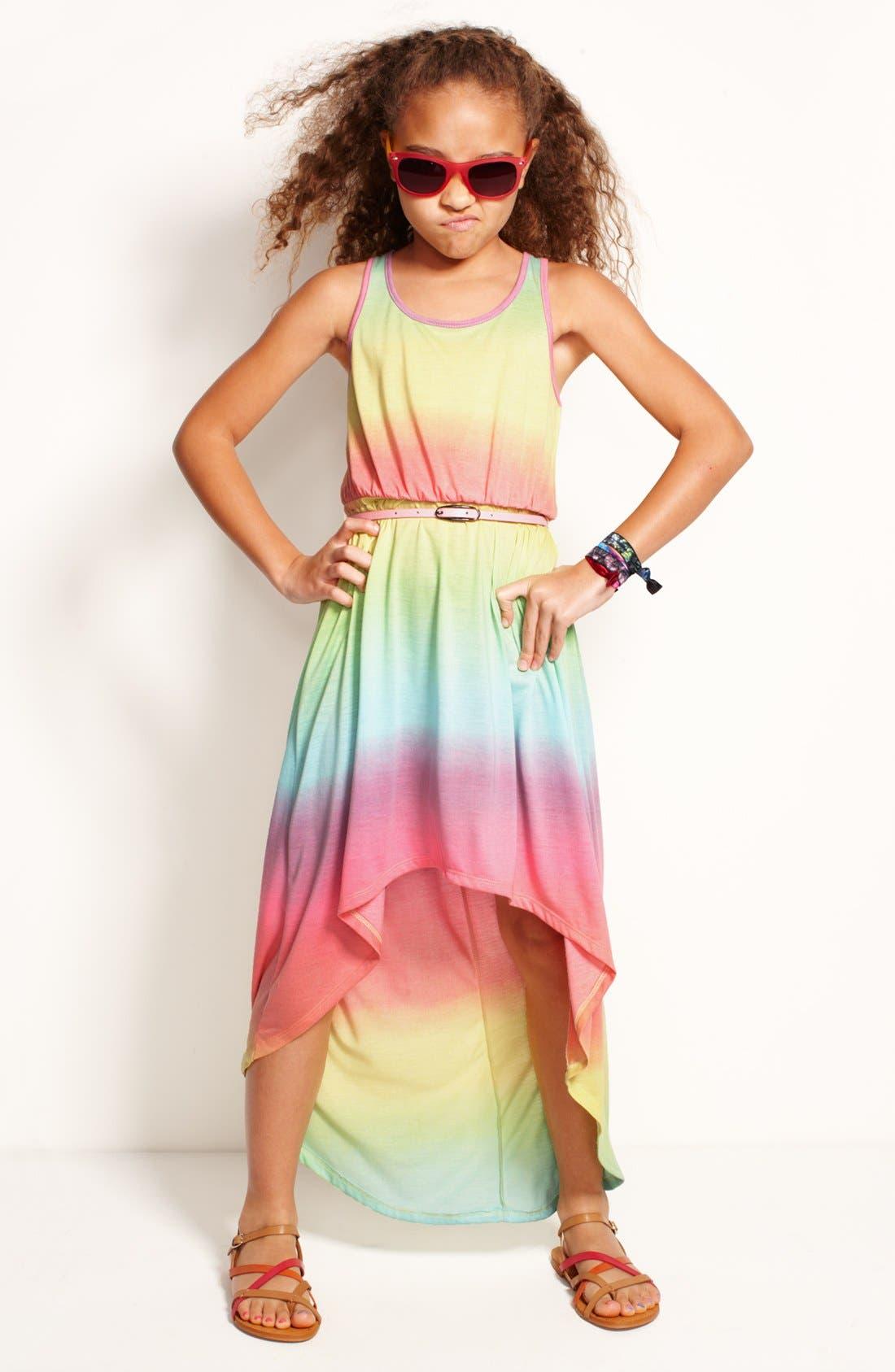 Alternate Image 3  - Fire Tie Dye Dress (Little Girls & Big Girls)