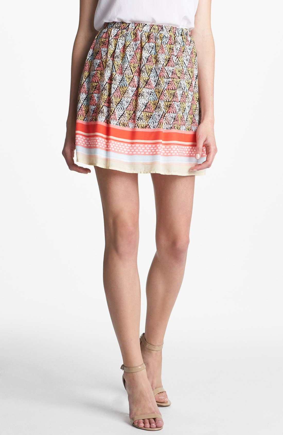 Alternate Image 1 Selected - Ella Moss 'Border' Print Skirt