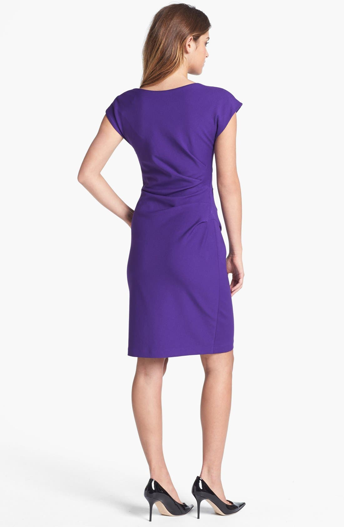 Alternate Image 2  - Ivy & Blu Cowl Neck Sheath Dress