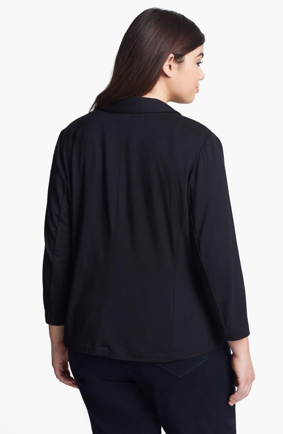 Alternate Image 2  - Sejour 'Siro' Print Shawl Collar Jacket (Plus Size)