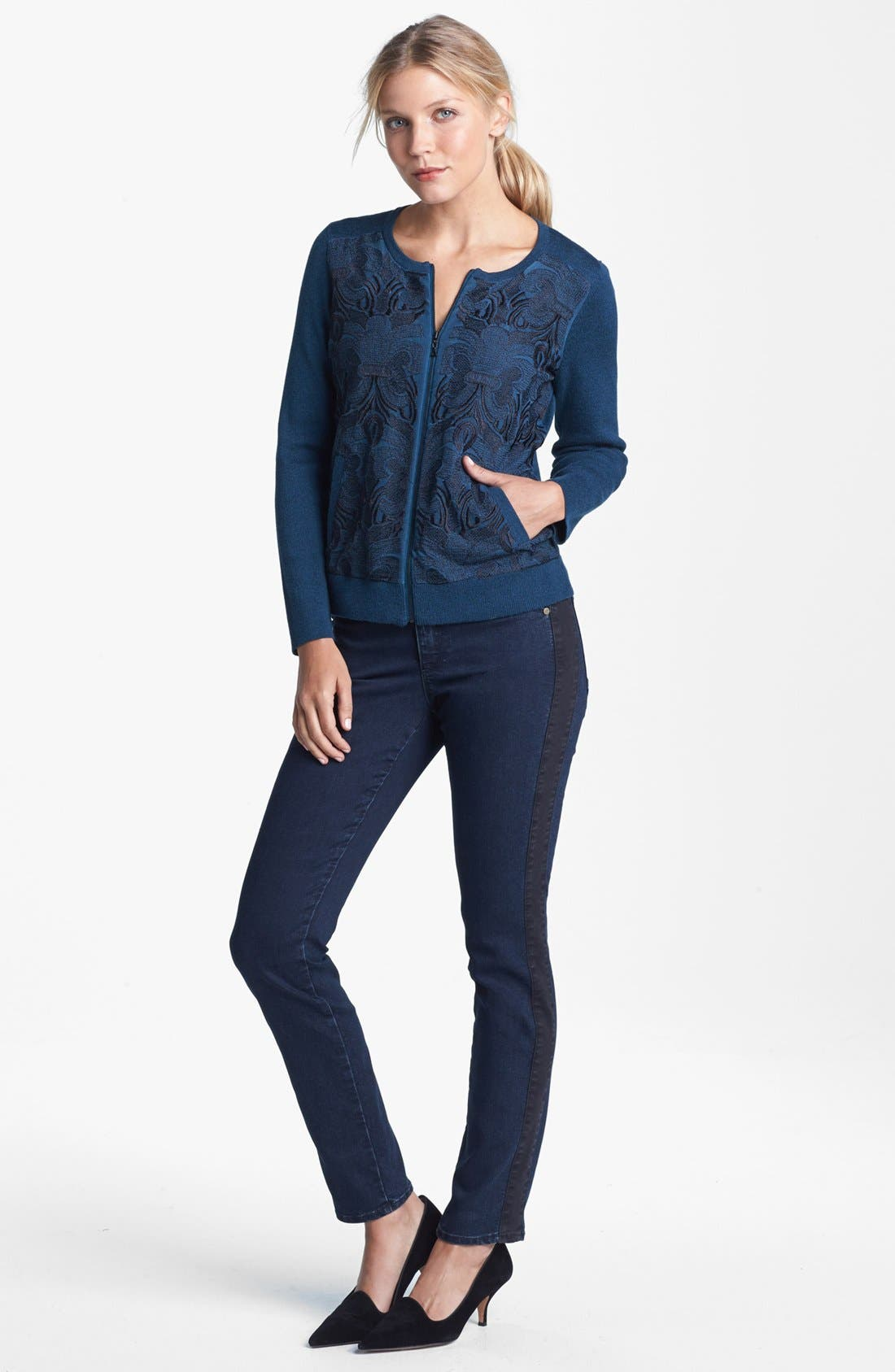 Alternate Image 6  - CJ by Cookie Johnson Track Stripe Skinny Jeans