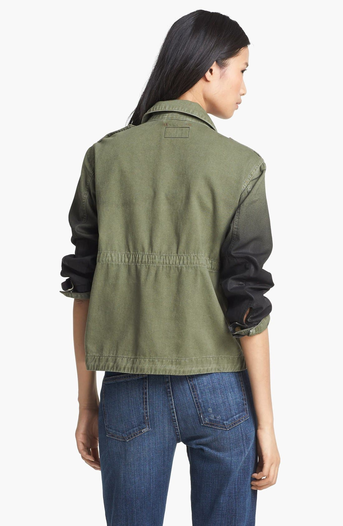 Alternate Image 3  - Current/Elliott 'The Lone Soldier' Coated Sleeve Jacket