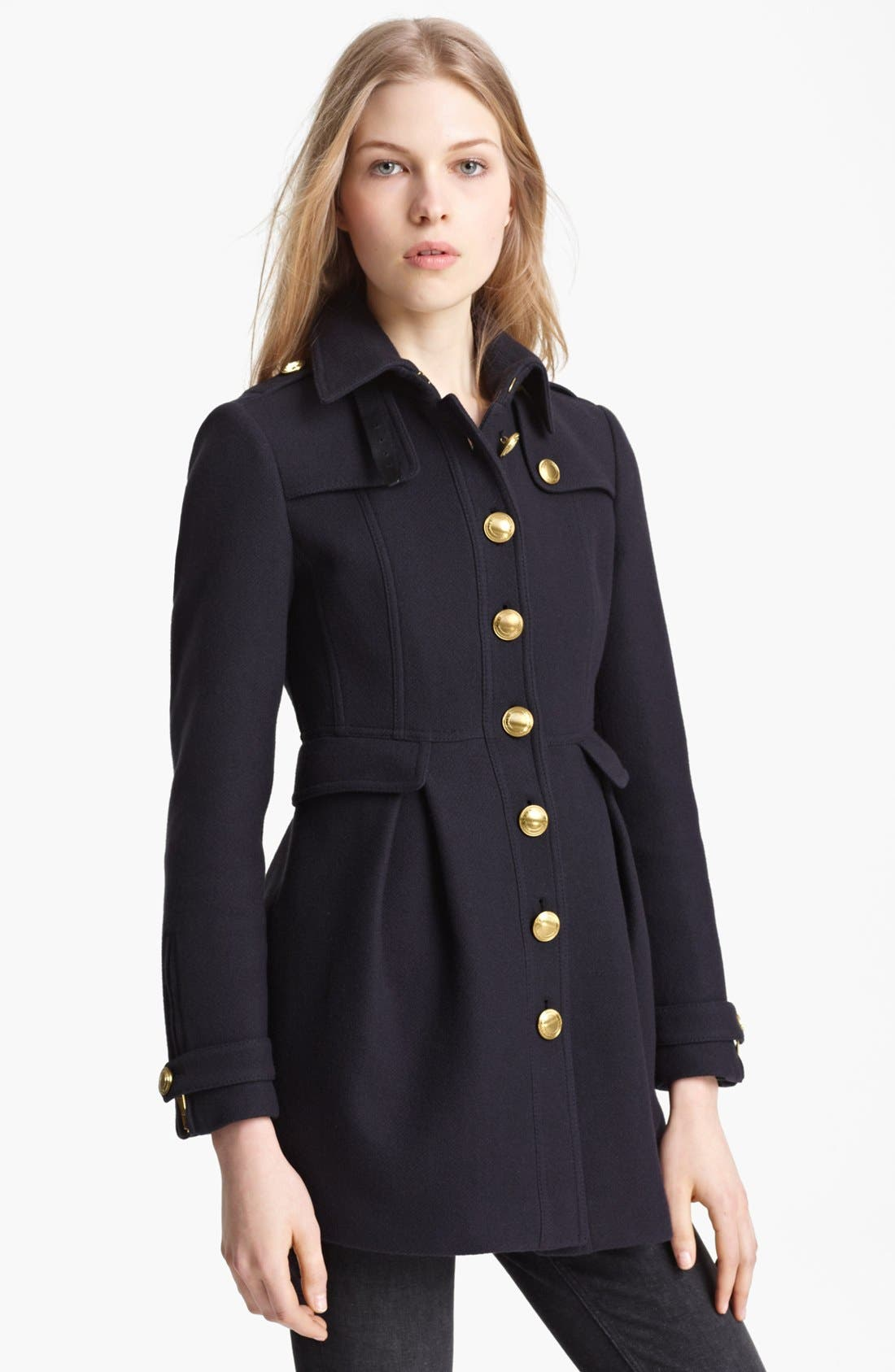 Alternate Image 1 Selected - Burberry Brit 'Ostford' Wool Blend Military Coat
