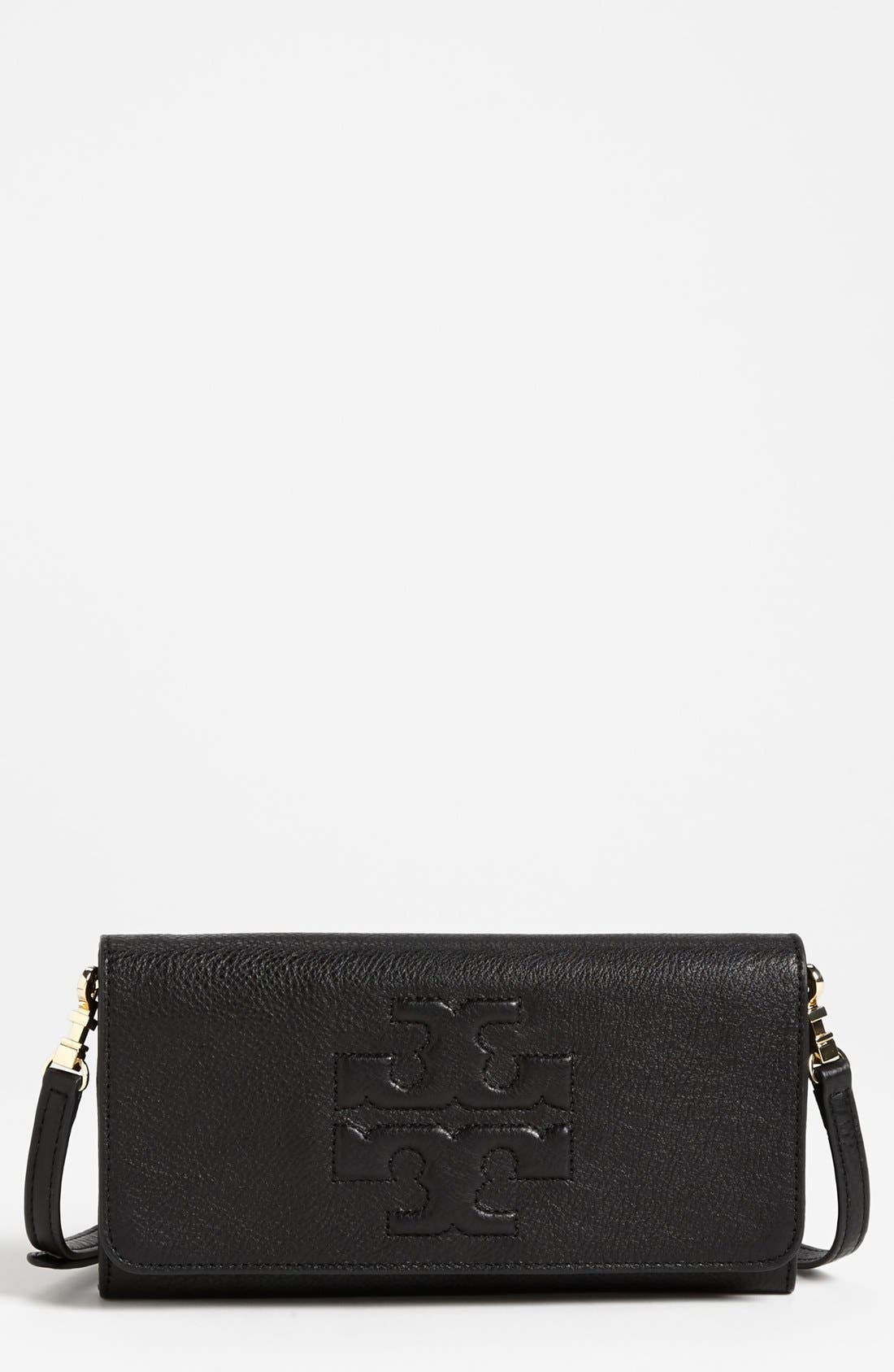 Main Image - Tory Burch 'Thea - Bombe' Leather Clutch