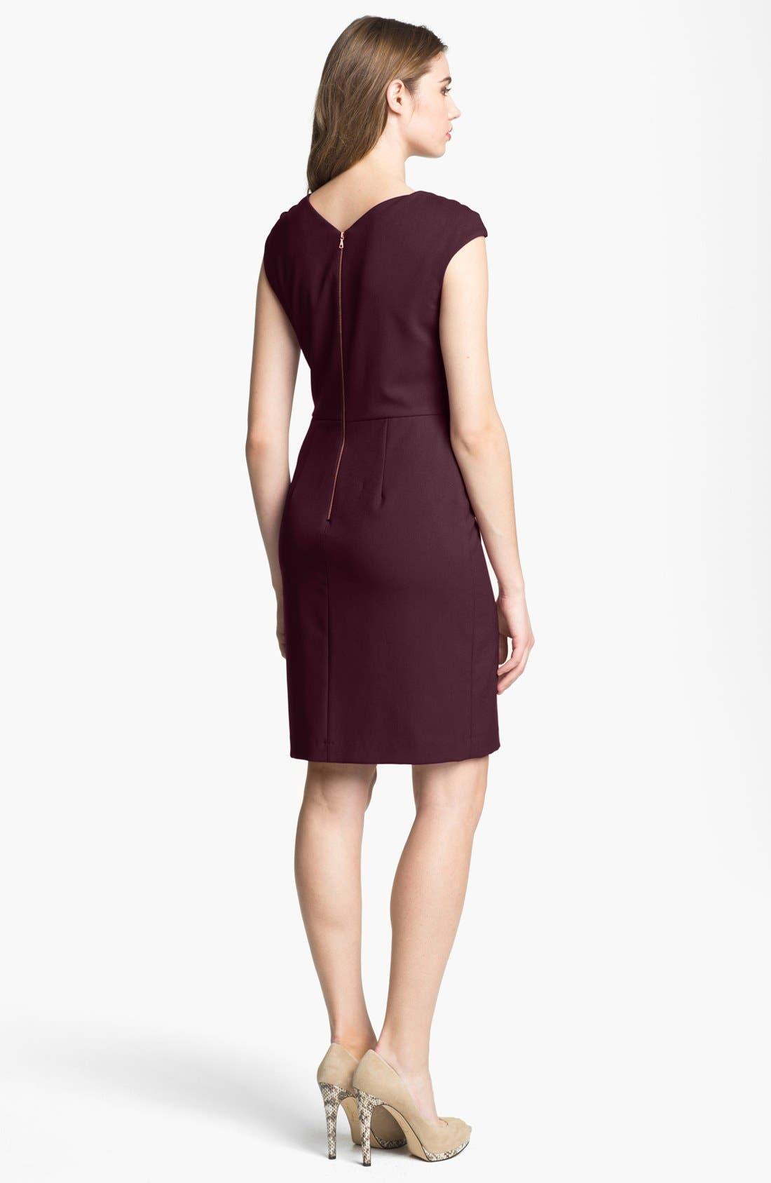Alternate Image 2  - Ivy & Blu Cap Sleeve Sheath Dress (Online Only)