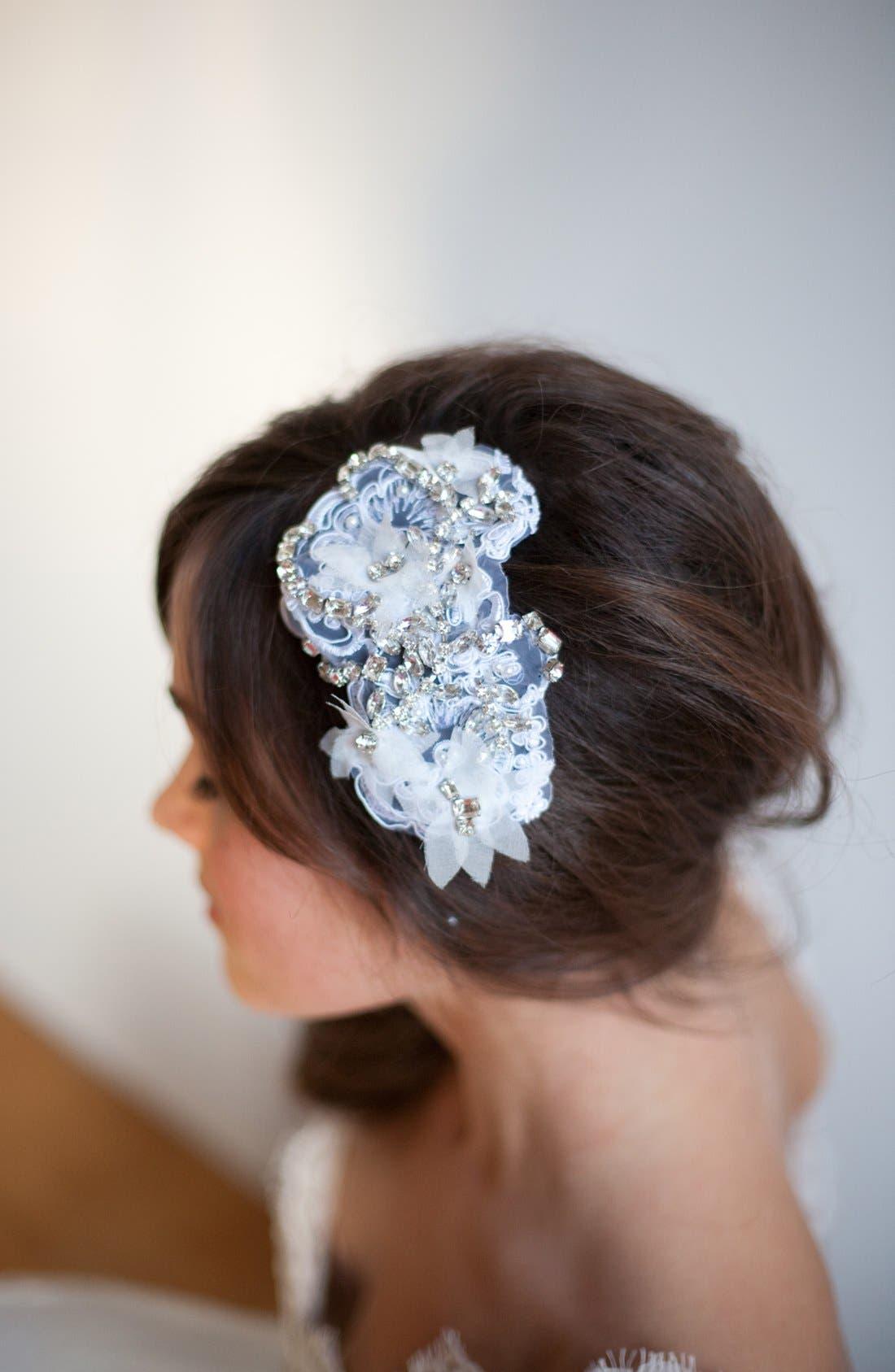 Alternate Image 3  - Serephine 'Eloise' Rhinestone & Lace Bridal Comb
