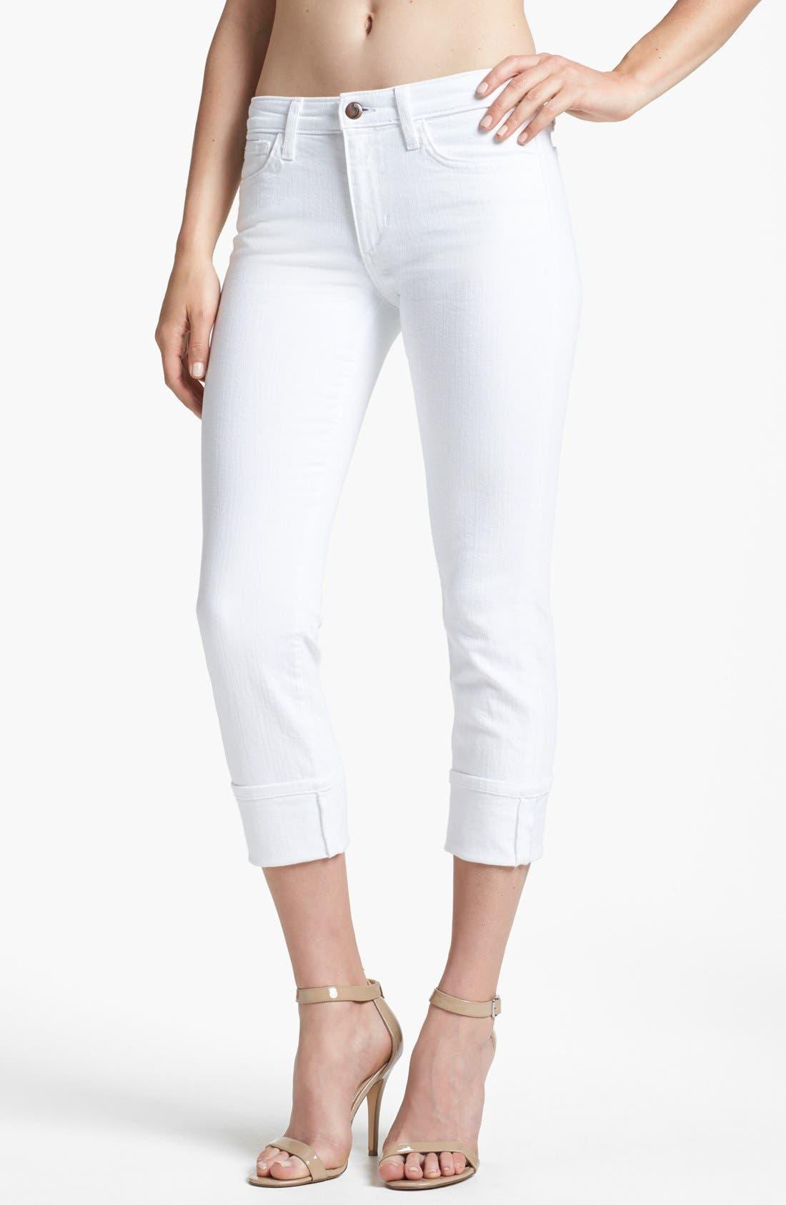 Alternate Image 1 Selected - Joe's Cuff Crop Jeans (Bonnie)
