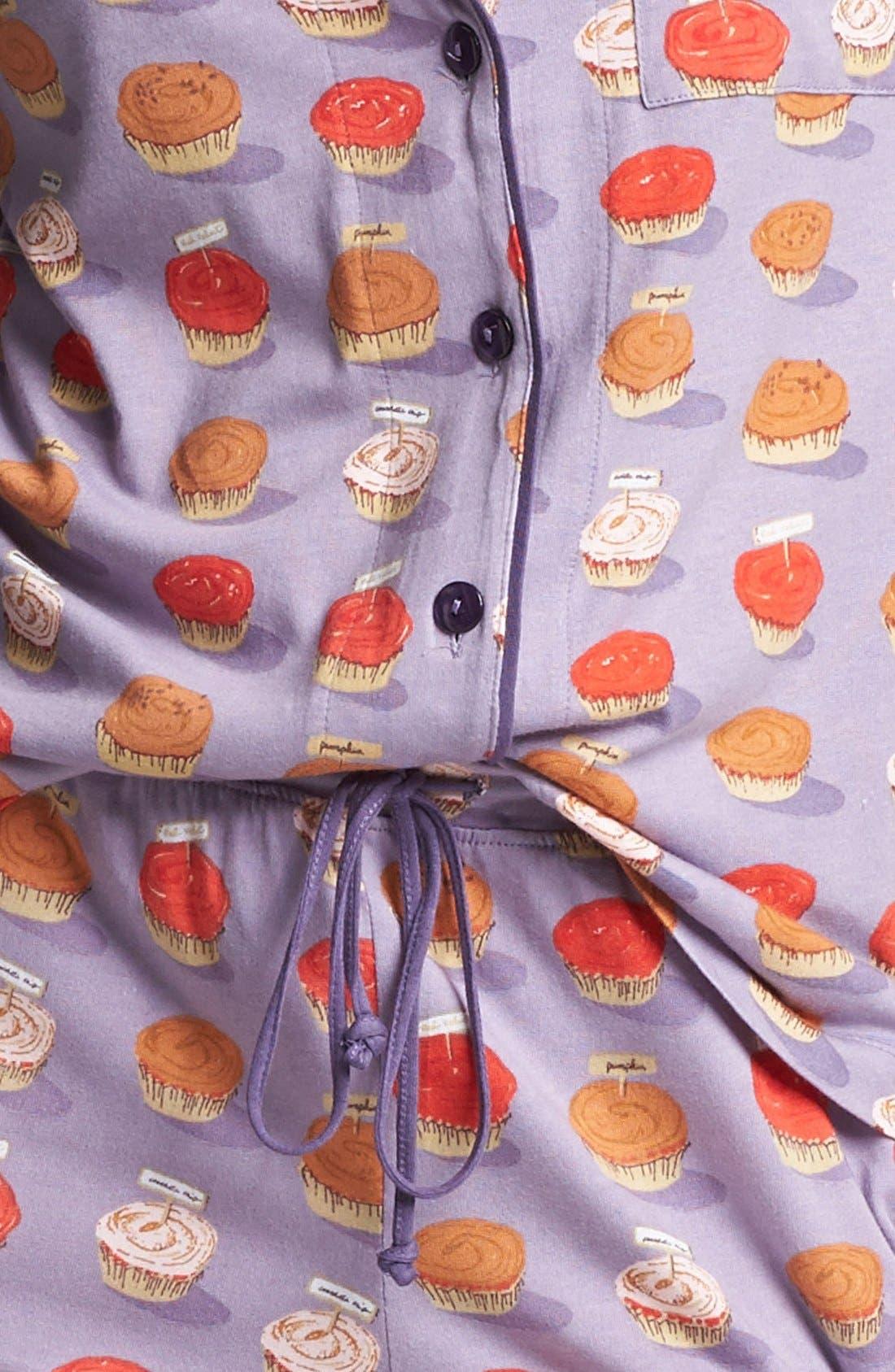 Alternate Image 3  - Munki Munki Print Pajamas