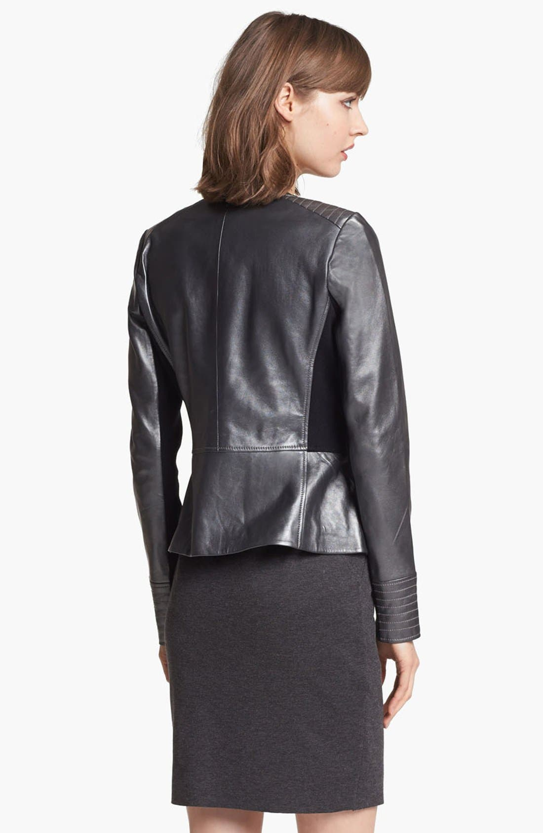 Alternate Image 2  - Trouvé Metallic Leather Biker Jacket