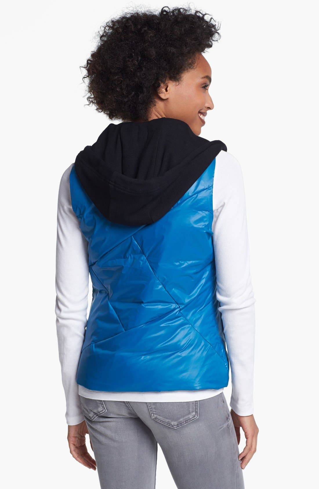Alternate Image 3  - Metro Packable Down Vest with Detachable Hood