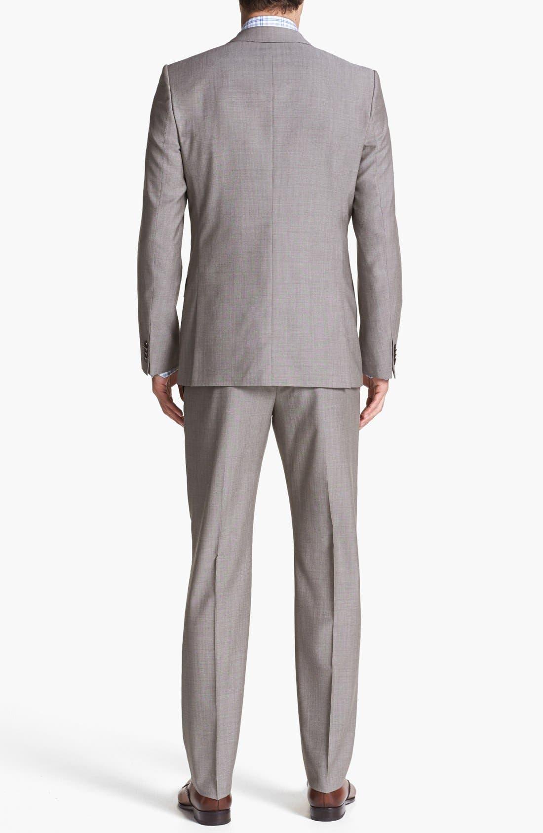 Alternate Image 3  - HUGO 'Amaro/Heise' Extra Trim Fit Suit