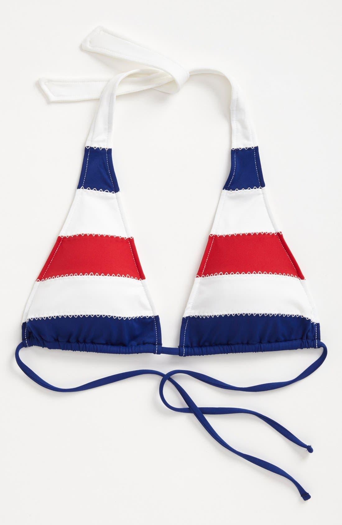 Alternate Image 6  - Ralph Lauren Stripe Halter Bikini Top