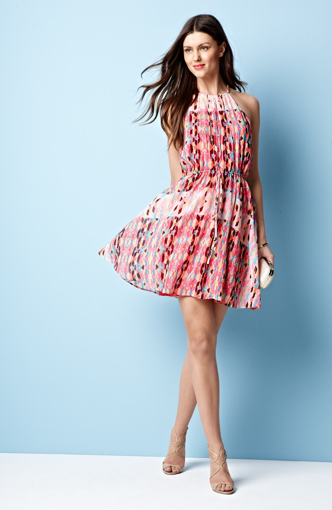 Alternate Image 4  - Jessica Simpson Print Pintucked Chiffon Dress