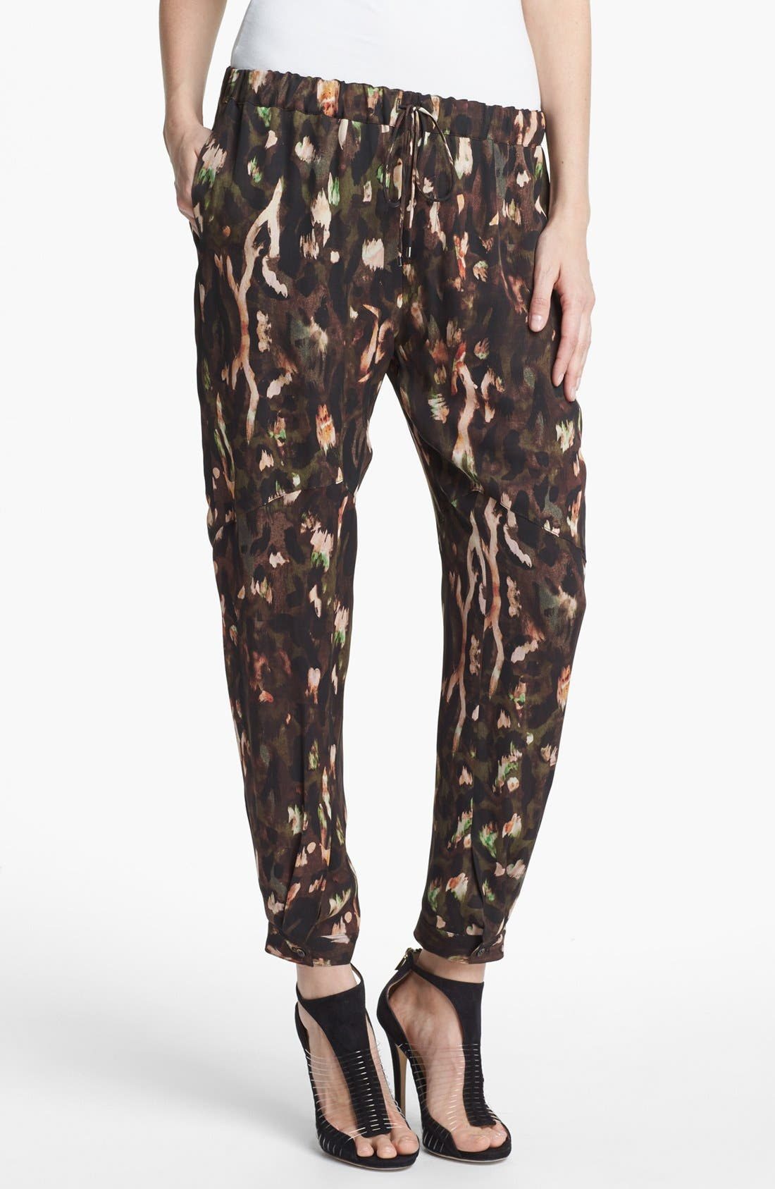 Alternate Image 1 Selected - Haute Hippie 'Keith' Draped Silk Pants