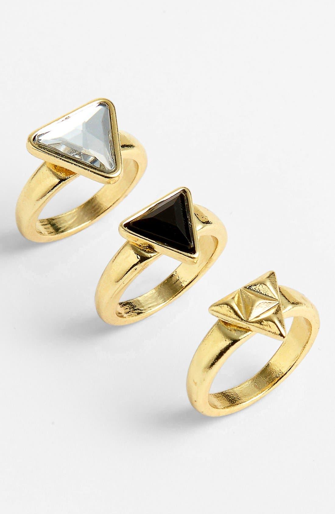 Main Image - Carole Triangle Rings (Set of 3)