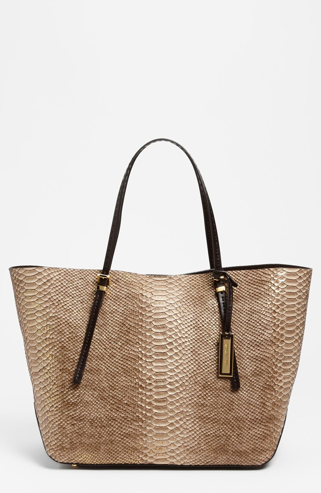 Main Image - Michael Kors 'Gia' Python Embossed Leather Tote, Large