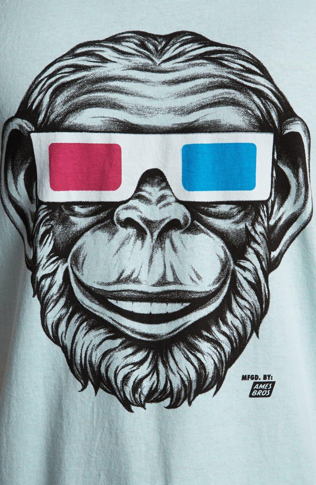 Alternate Image 3  - Ames Bros '3D Monkey' Tank Top