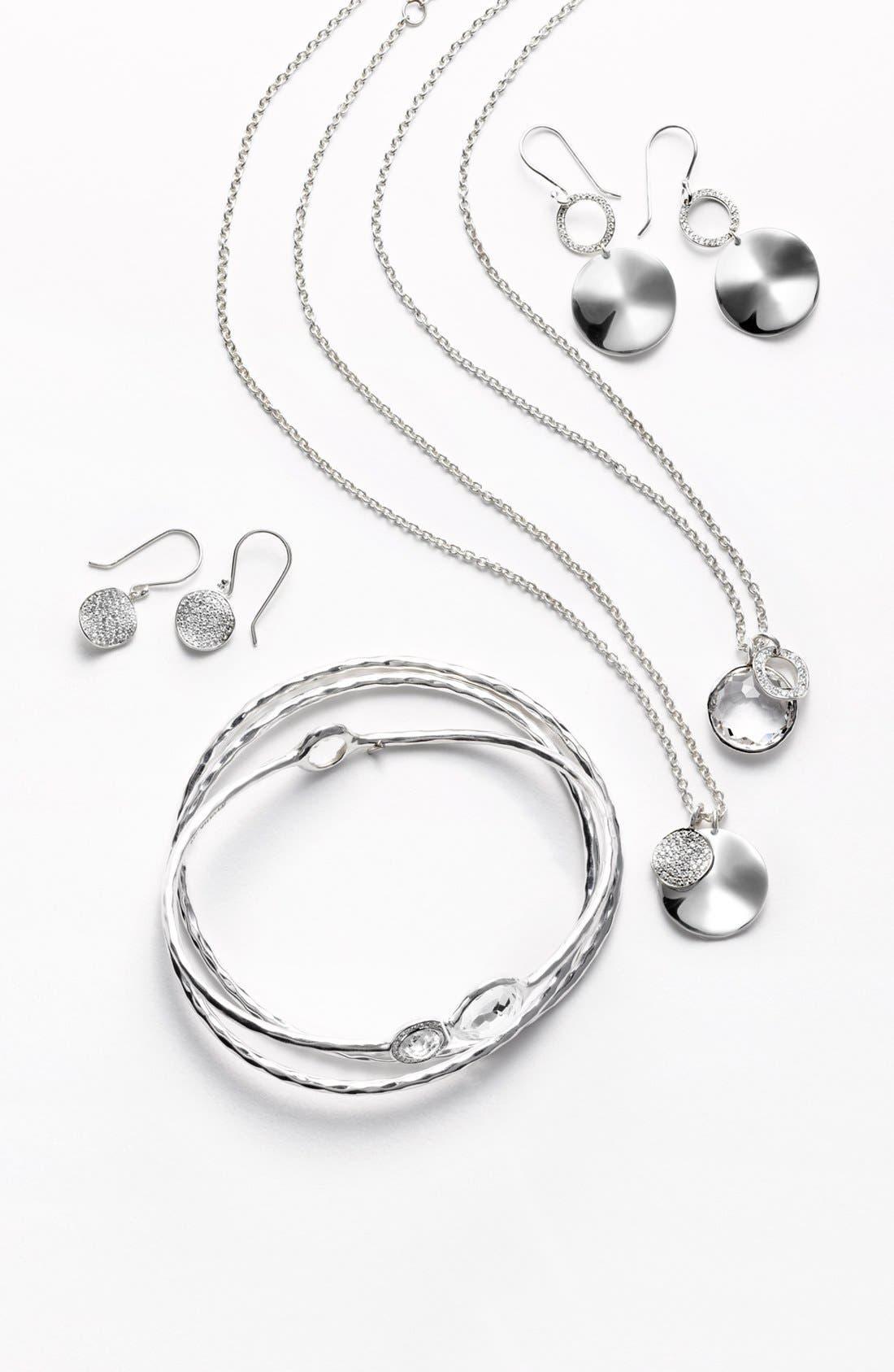 Alternate Image 2  - Ippolita 'Silver Diamond - Lollipop' Stone & Diamond Bangles (Set of 3) (Nordstrom Exclusive)
