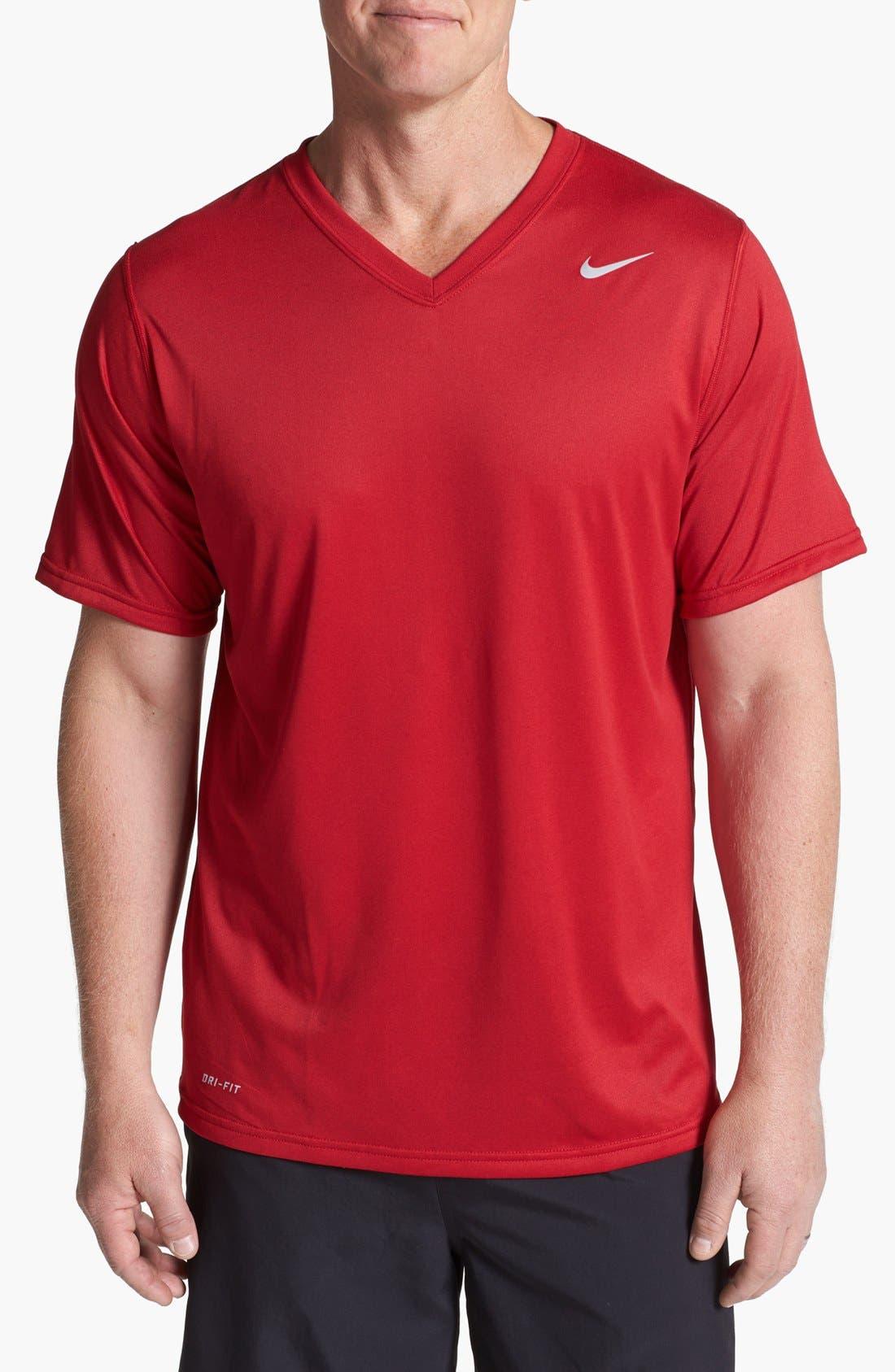 Alternate Image 1 Selected - Nike 'Legend' Dri-FIT V-Neck T-Shirt